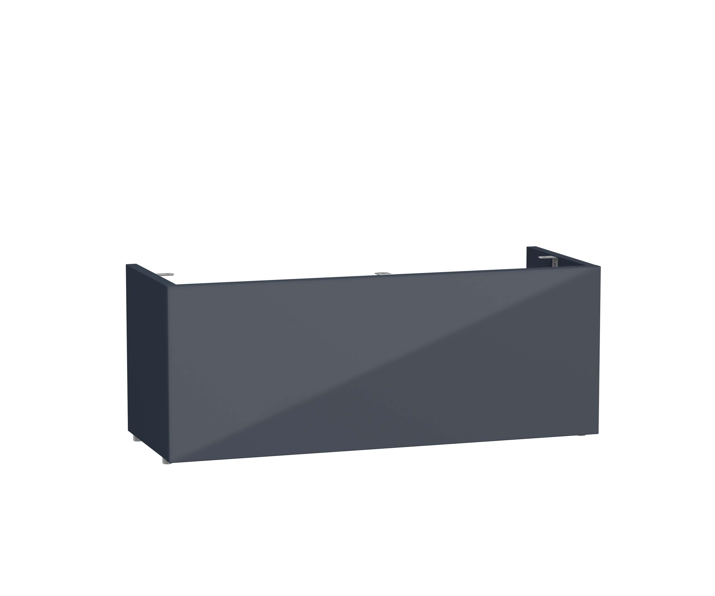 Mia socle pour meuble avec plan céramique et 2 tiroirs, 70 cm, anthraciteacite haute brillance