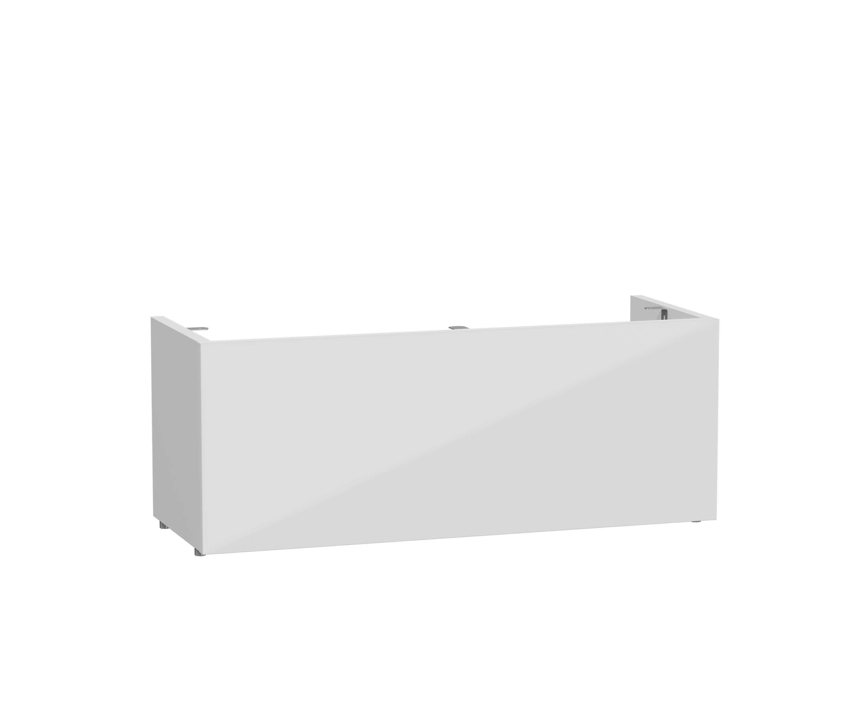 Mia socle pour meuble avec plan céramique et 2 tiroirs, 70 cm, blanc haute brillance
