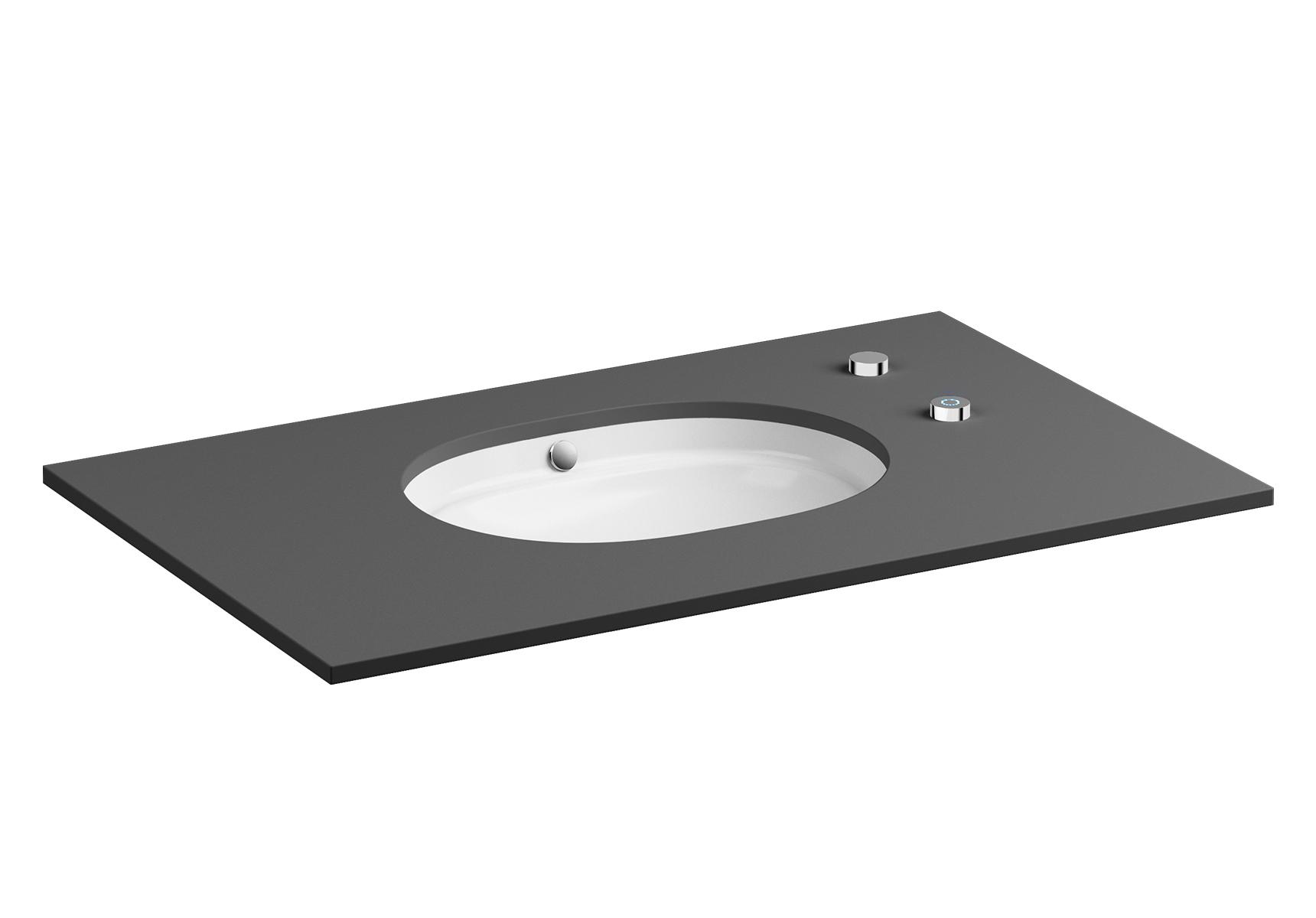 Metropole vasque autonettoyante, 55 cm, avec bouton (activé manuellement), sans trop-plein