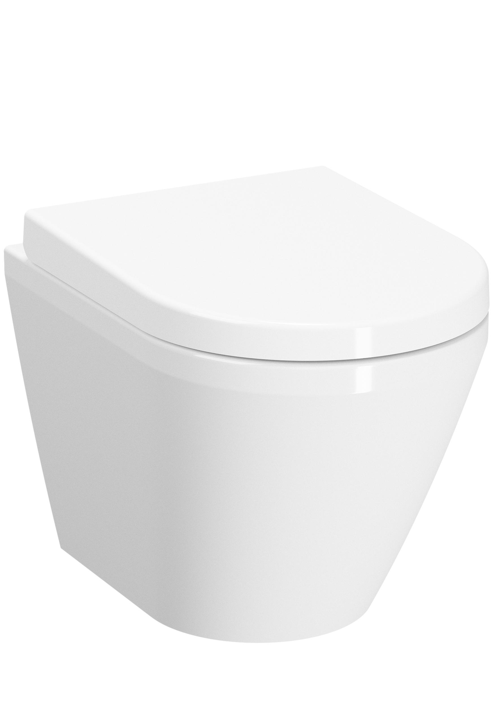 Integra Wand-WC VitrA Flush 2.0 Compact, Weiß