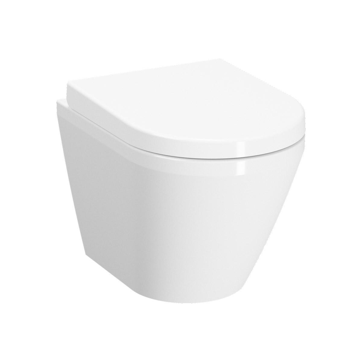 Integra Wand-WC VitrA Flush 2.0 Compact mit Bidetfunktion, Weiß