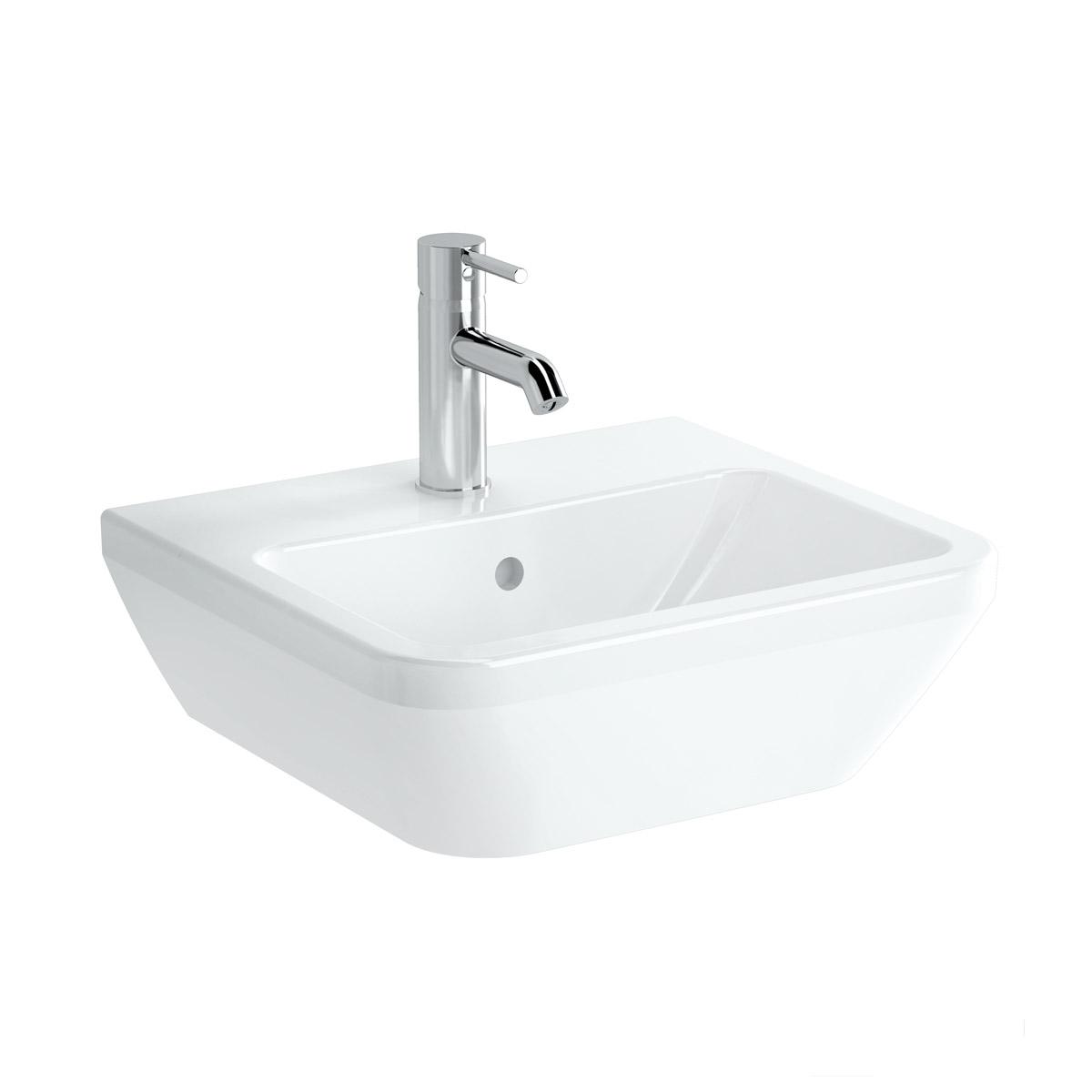 Integra Handwaschbecken, 45 cm, eckig, Weiß