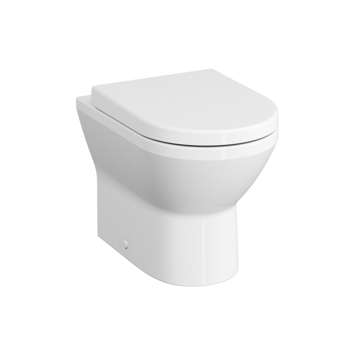 Integra Stand-WC VitrA Flush 2.0 (ohne Spülrand), mit Bidetfunktion, Tiefspüler