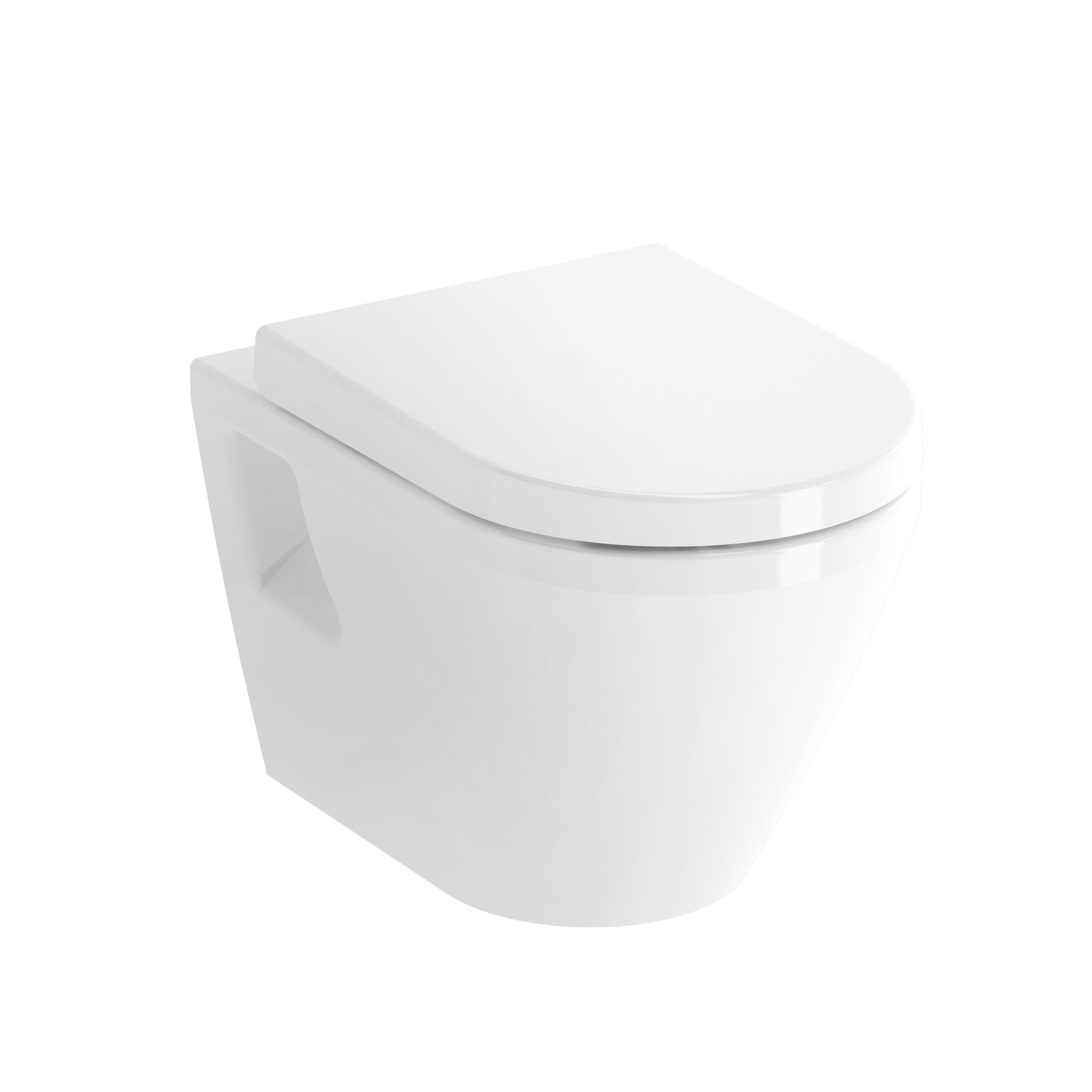 Integra Wand-WC VitrA Flush 2.0 (ohne Spülrand), Tiefspüler