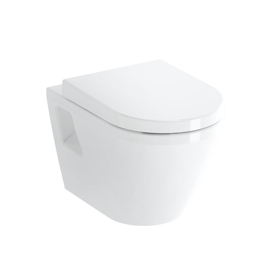 Integra Wand-WC VitrA Flush 2.0 (ohne Spülrand), mit Bidetfunktion, Tiefspüler