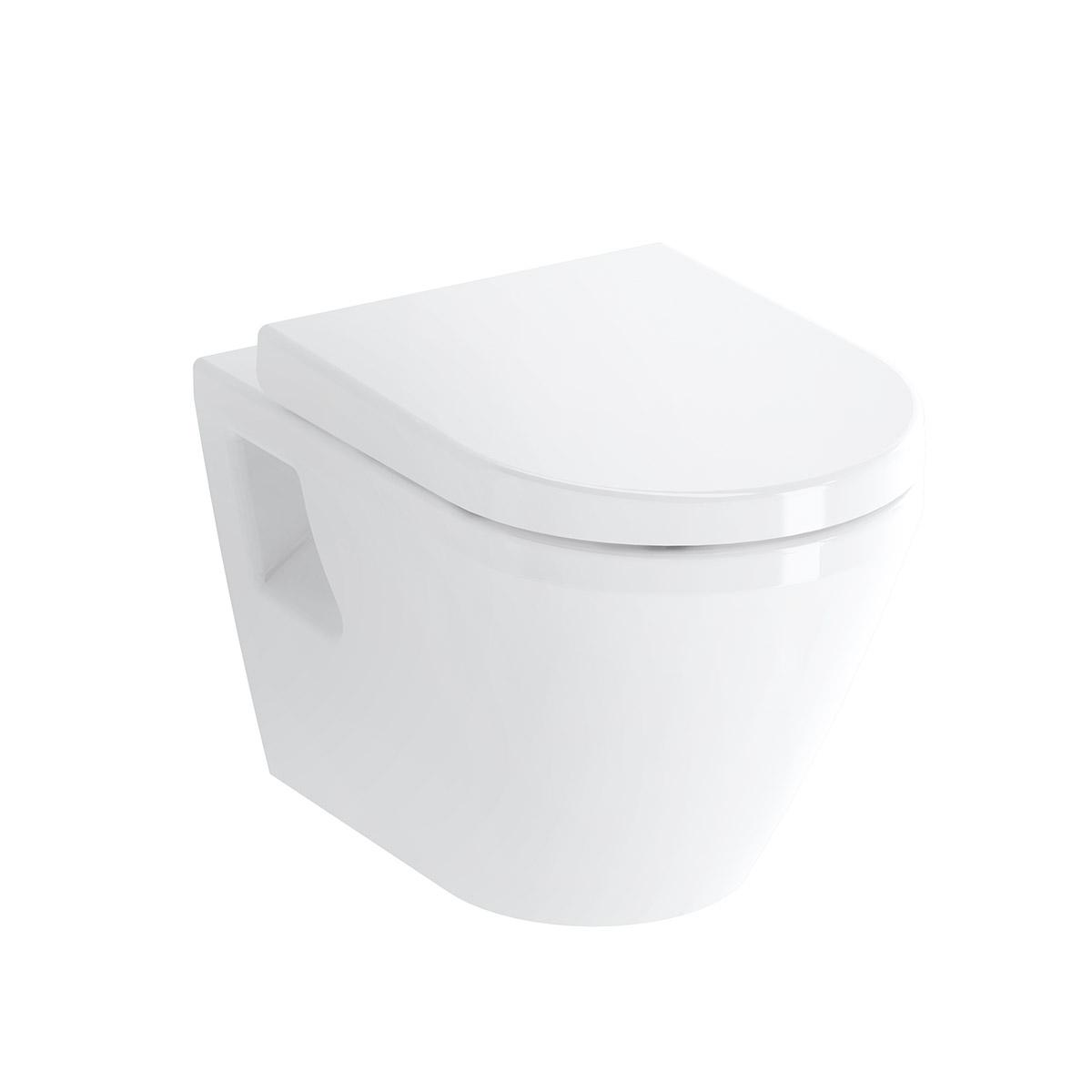 Integra Wand-WC mit Bidetfunktion, Weiß