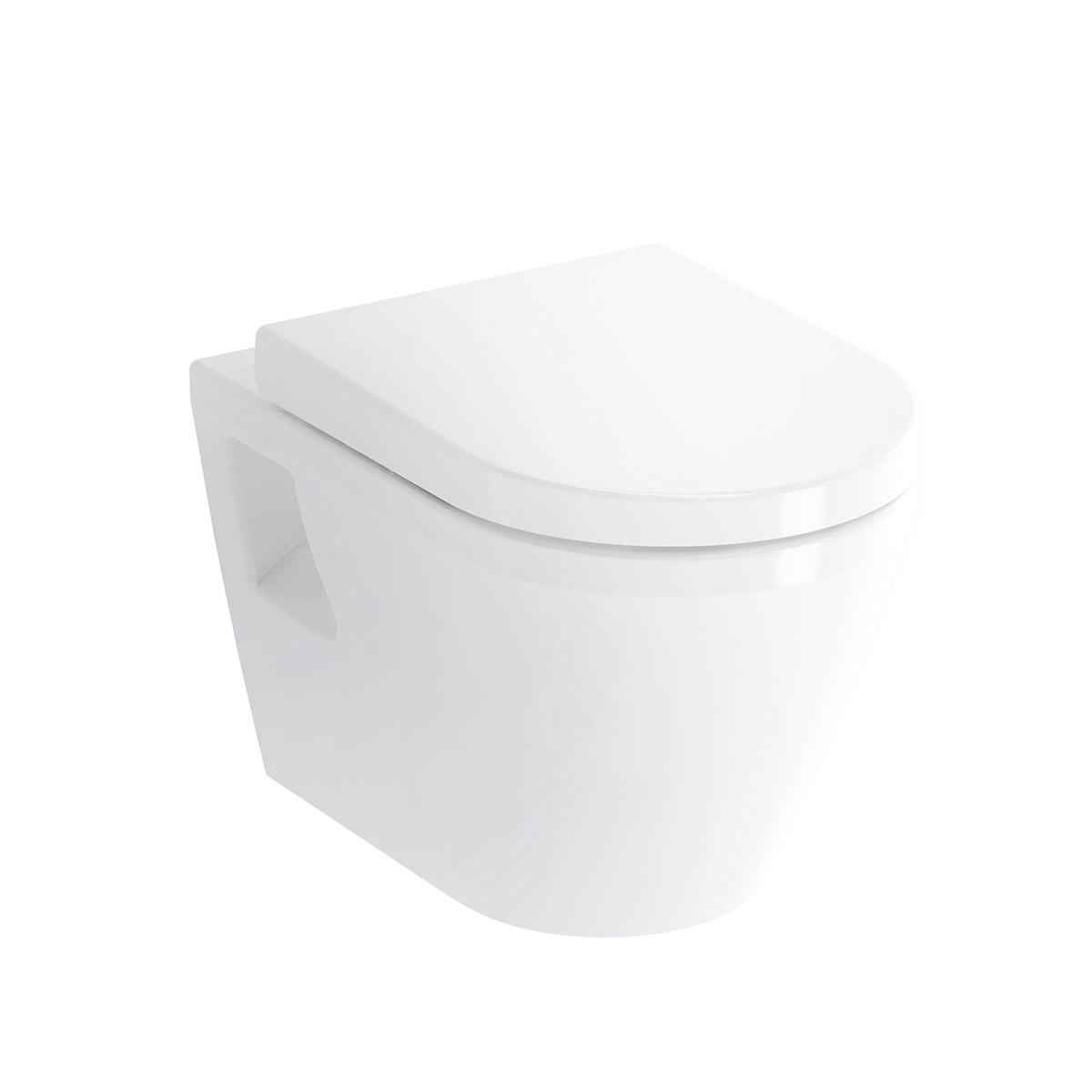 Integra Wand-WC Flachspüler mit Bidetfunktion, Weiß