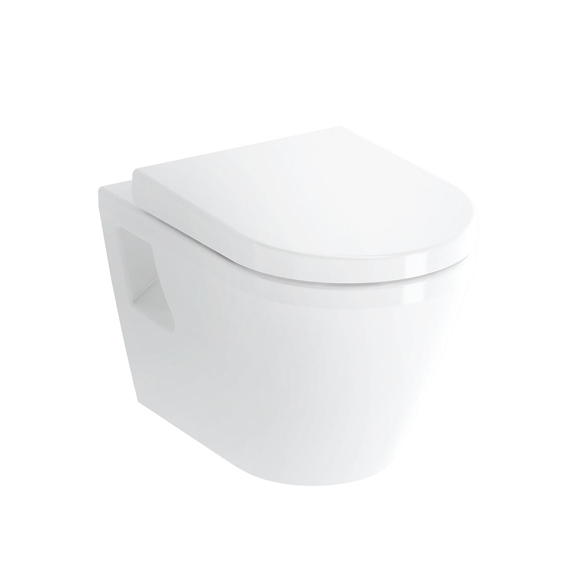 Integra WC suspendu, à fond plat, avec bride, avec fonction bidet, 54 cm