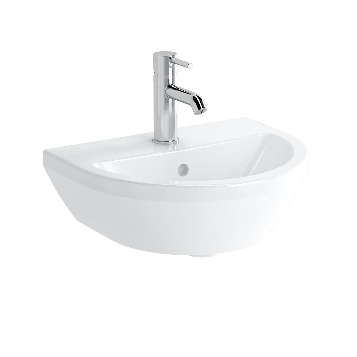 Integra Handwaschbecken, 45 cm, rund, Weiß