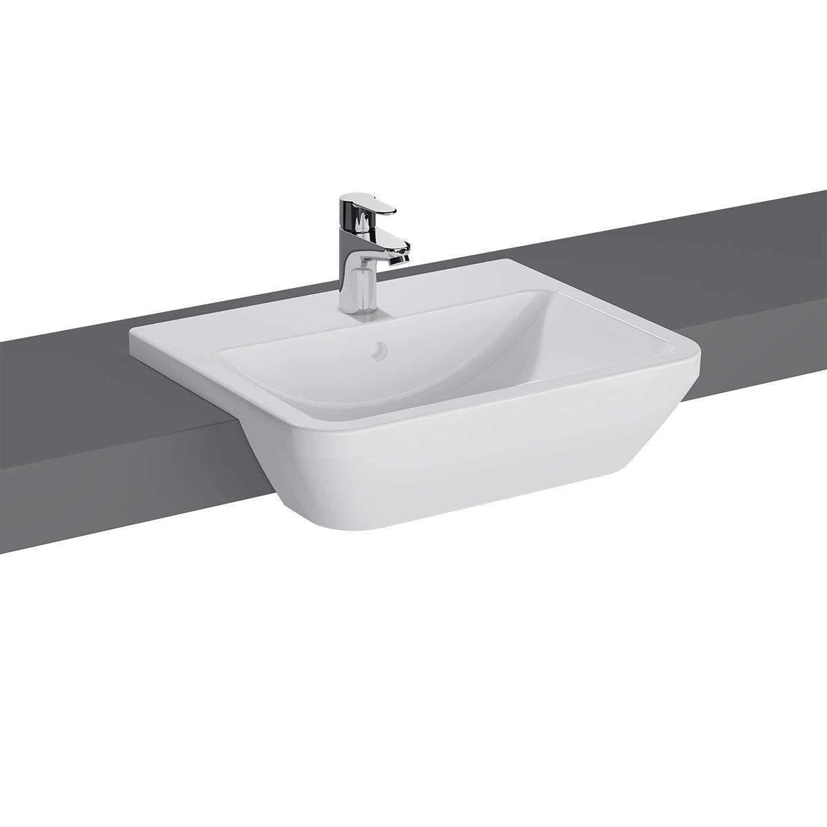 Integra vasque semi-encastrée, 55 cm