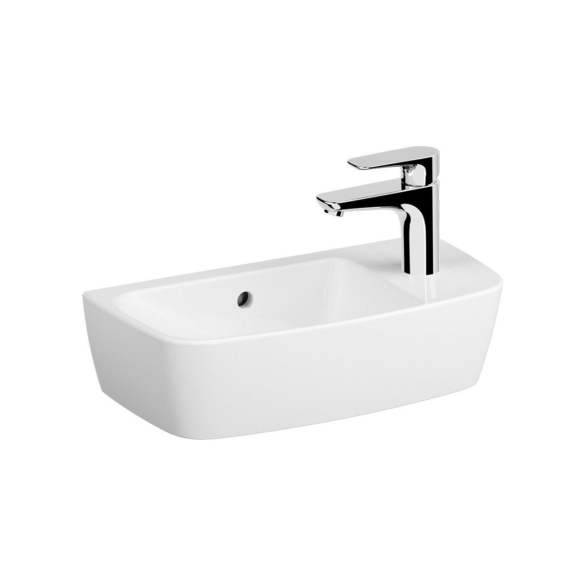 Shift Aufsatzhandwaschbecken, 50 cm, Weiß