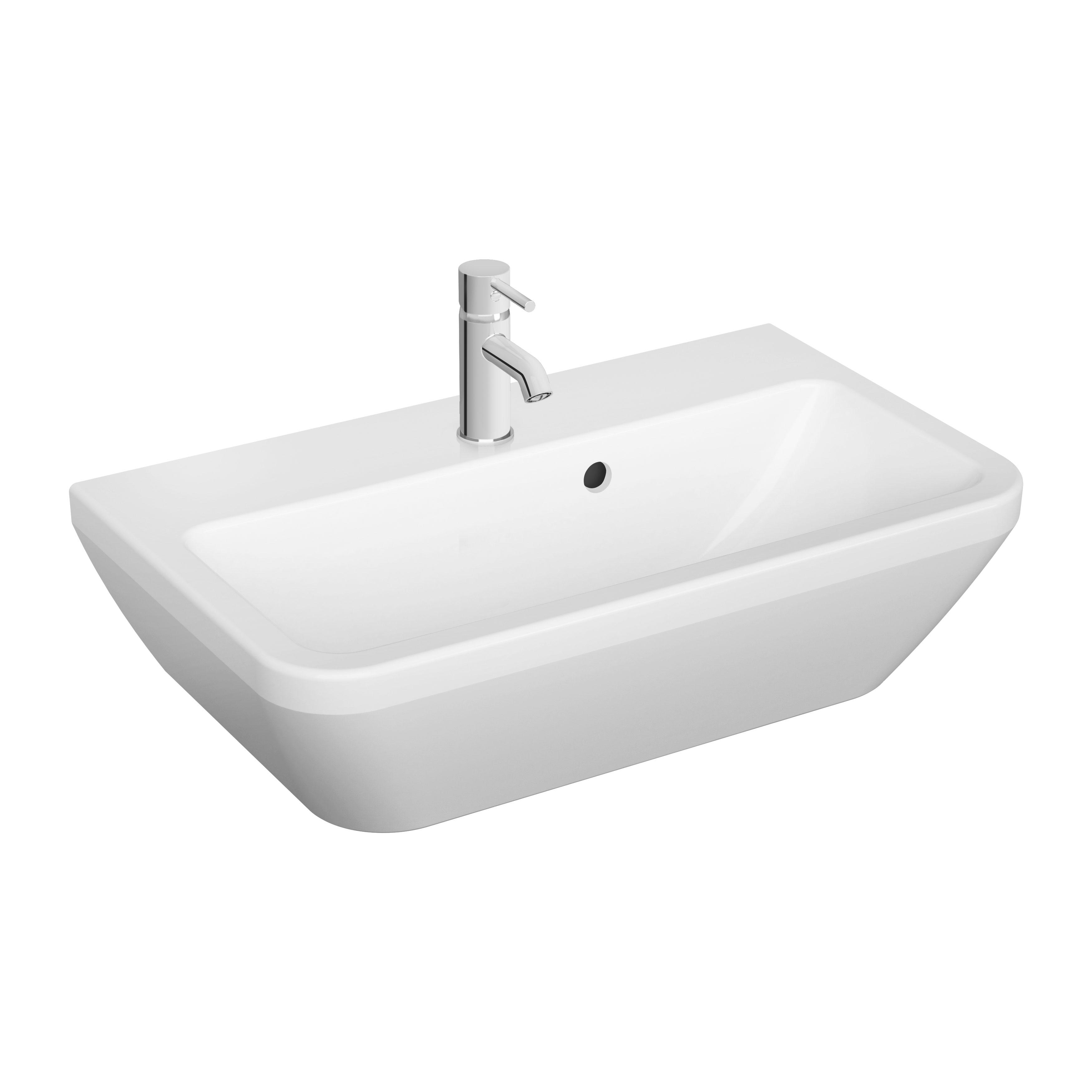 Integra lavabo, 60 cm, avec trop plain, blanc
