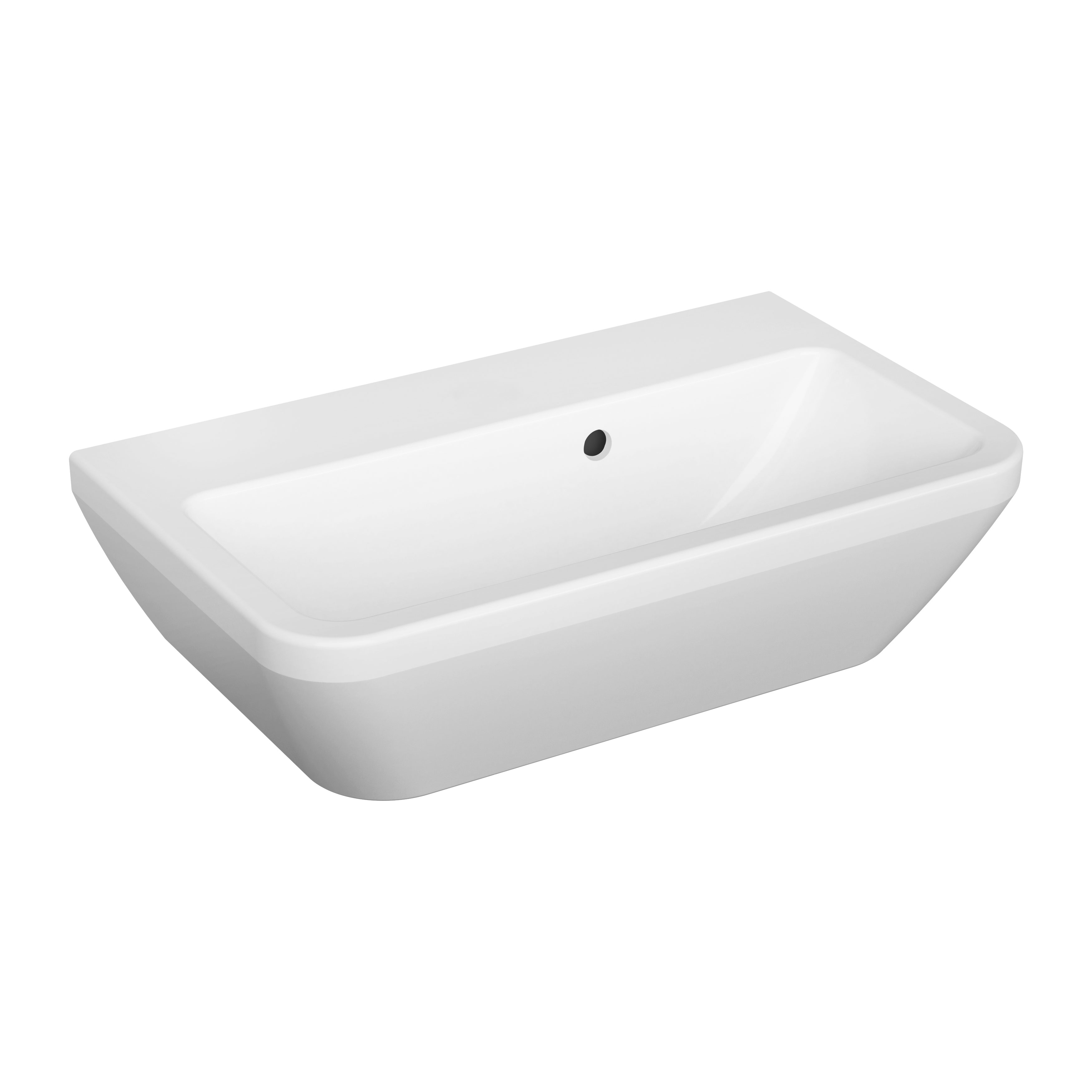 Integra lavabo, 60 cm, sans trop plain, blanc