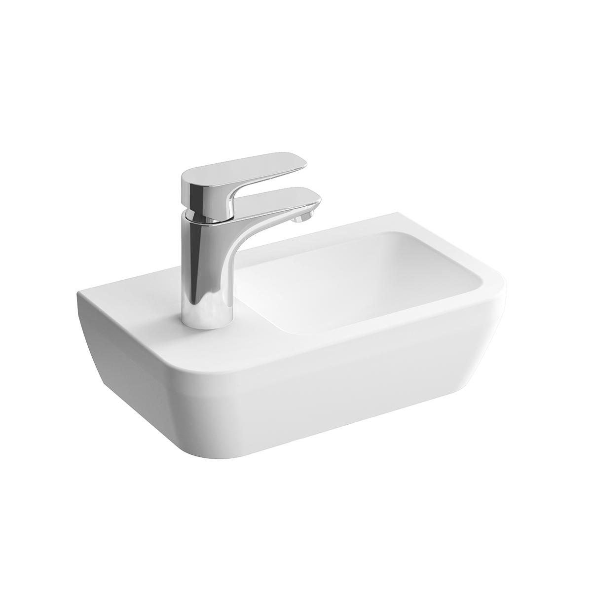 Integra lave-mains, trou de robinet à gauche