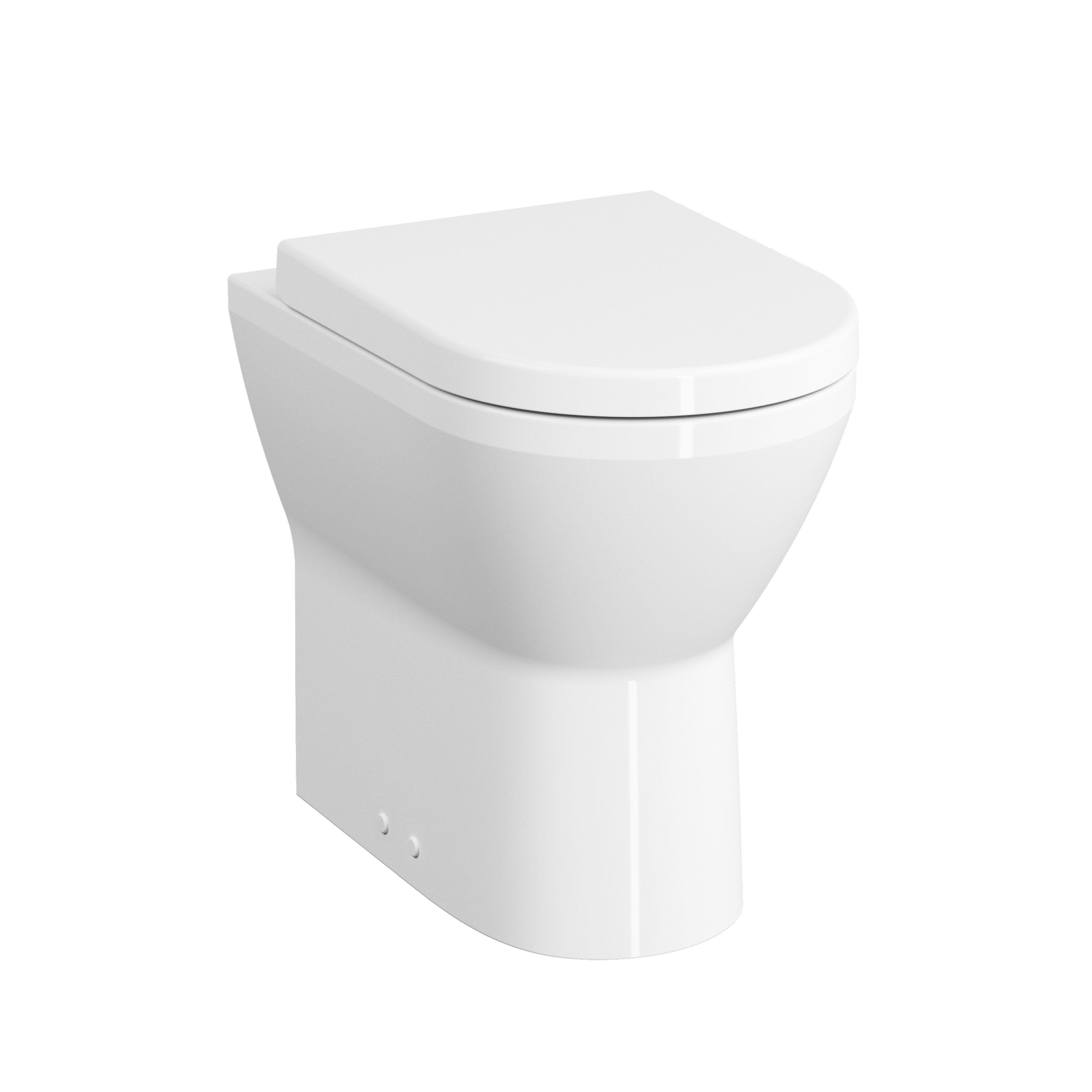 Conforma Style WC à poser PMR, sans bride, back to wall,accessibilit aux personnes  mobilité à réduite, blanc