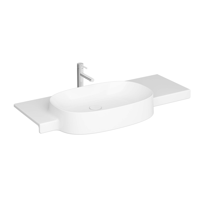 Voyage lavabo, avec trou de robinet, 100 cm