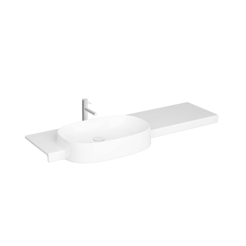 Voyage lavabo, avec trou de robinet, 130 cm