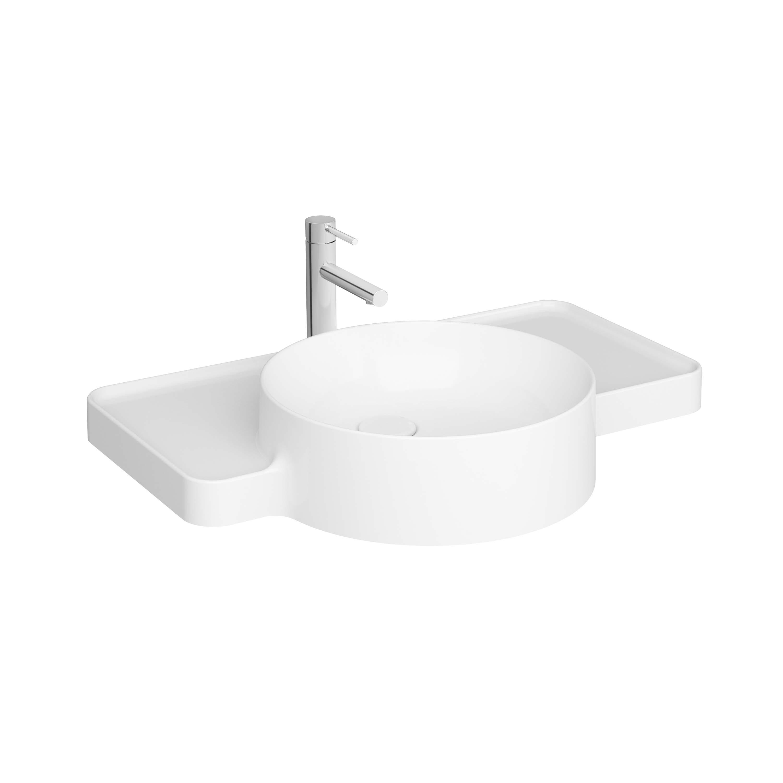 Voyage lavabo, avec plage de robinetterie, 70 cm, avec trou de robinet
