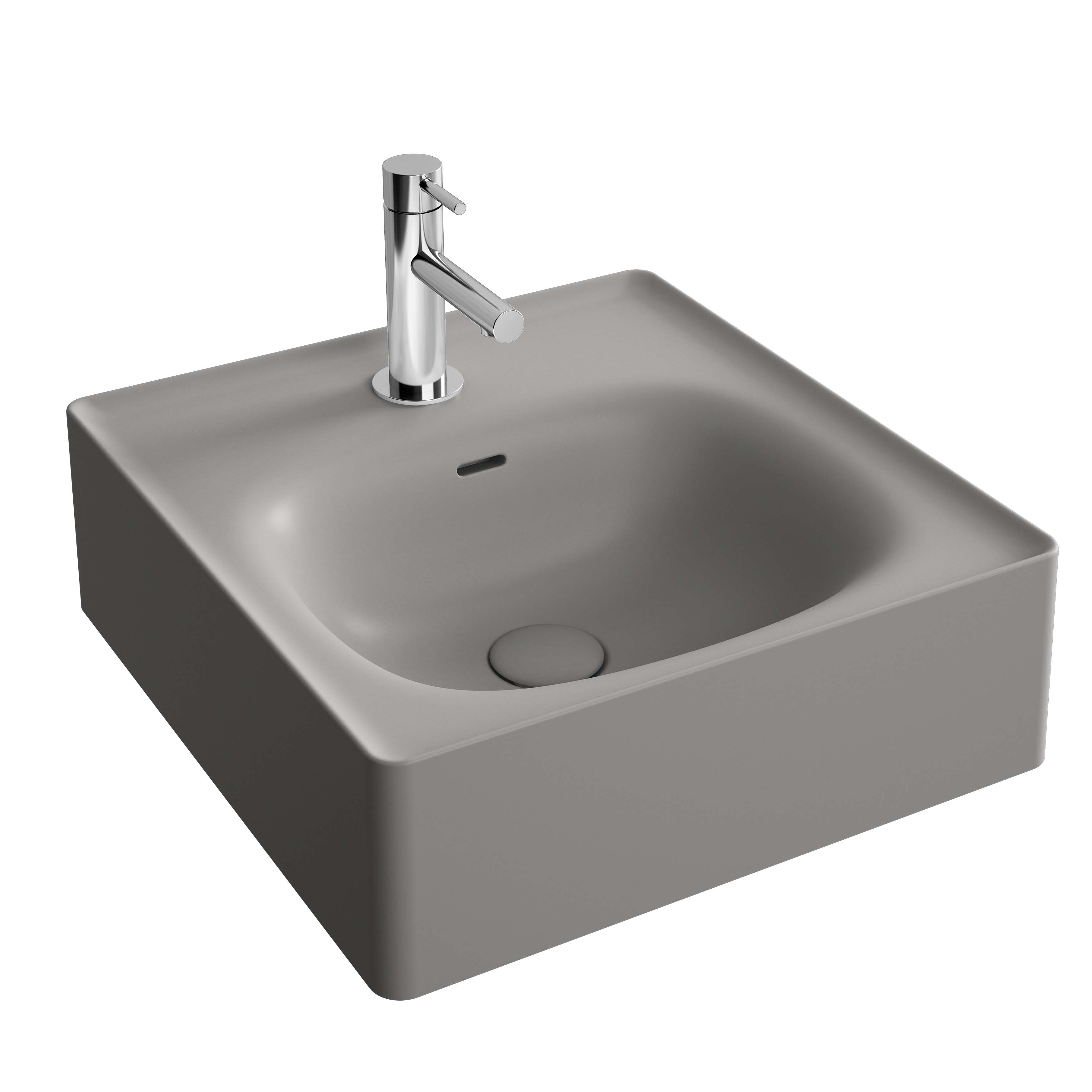 Equal lavabo, 40 cm, gris pierre mat