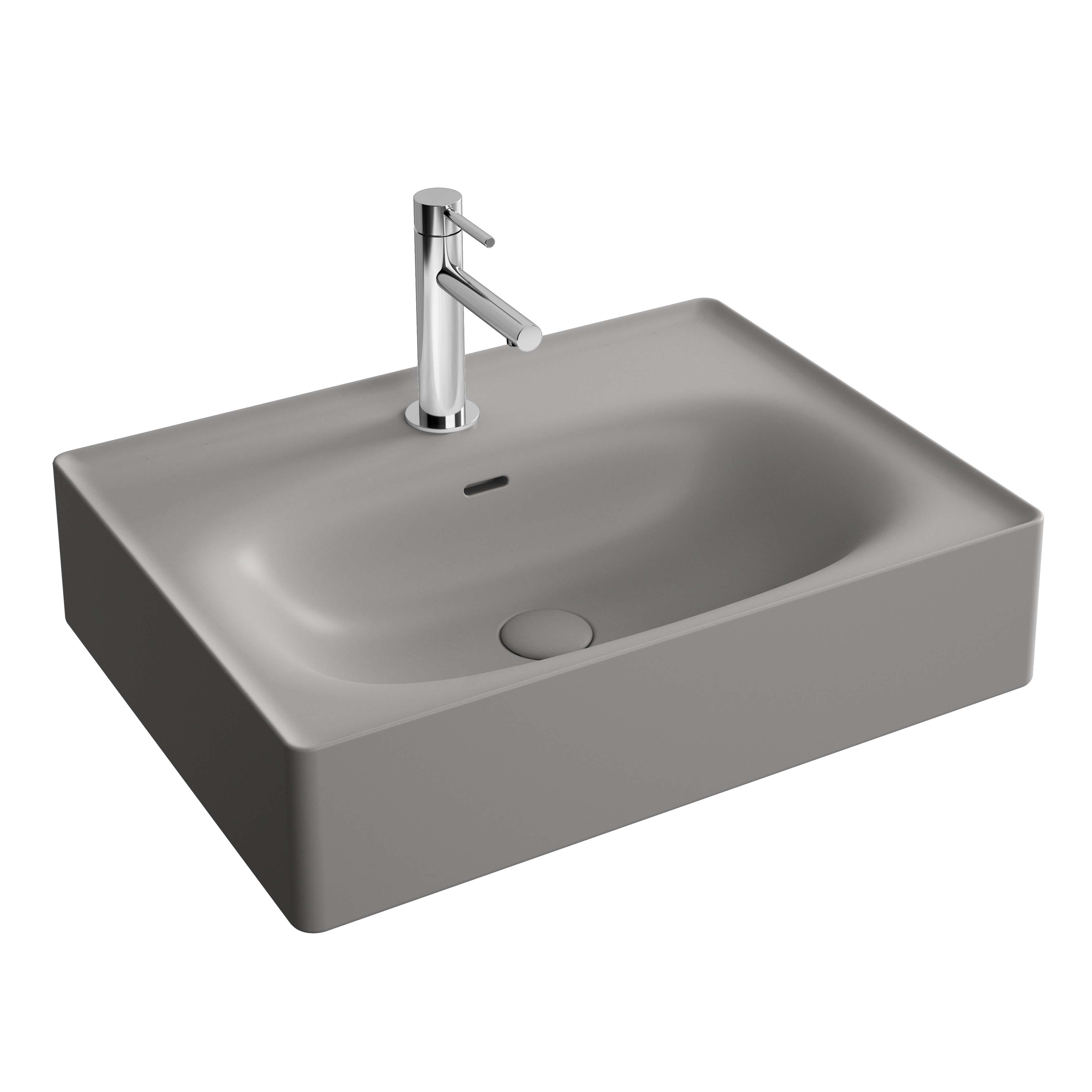 Equal lavabo, 60 cm, gris pierre mat