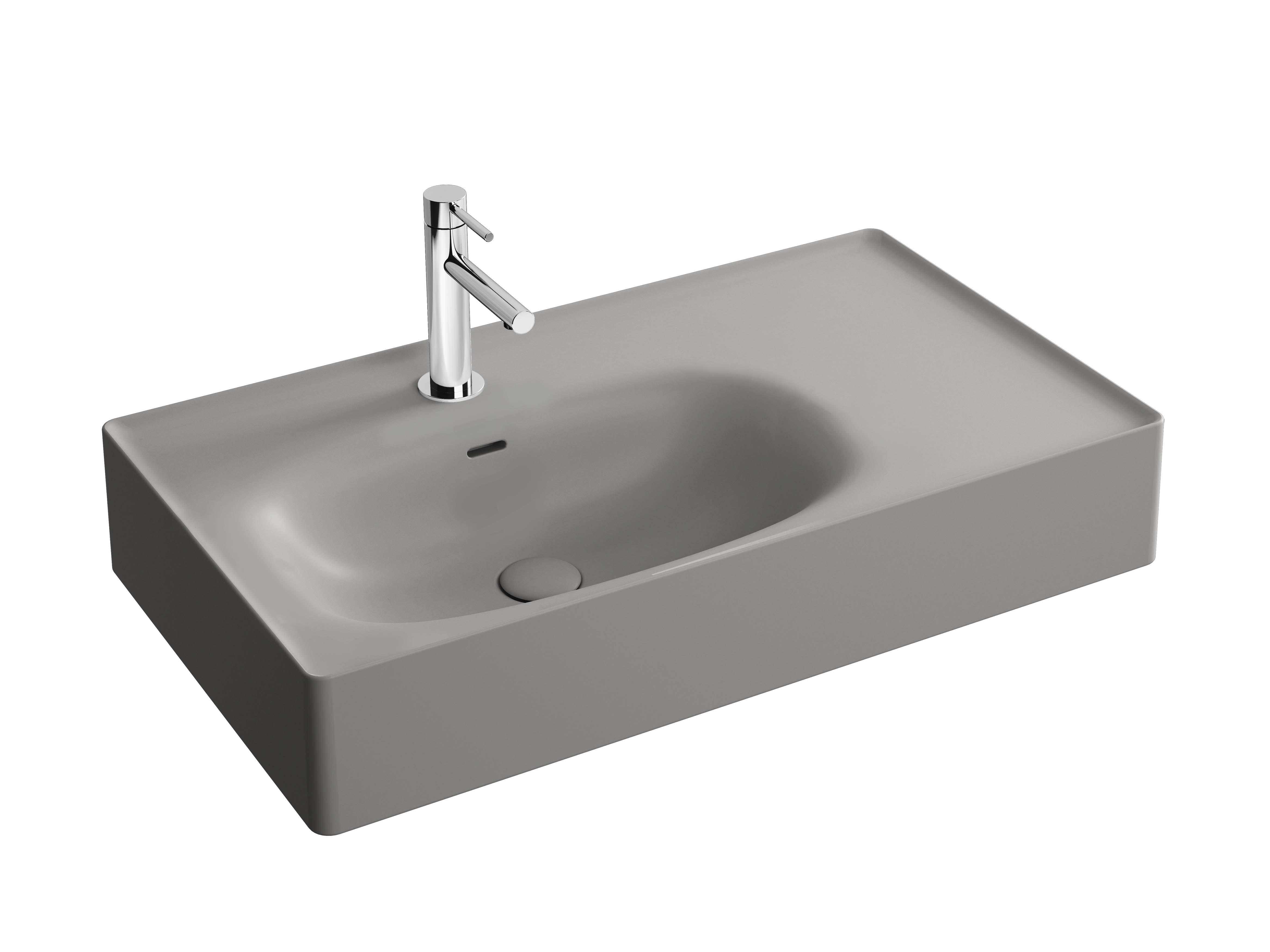 Equal lavabo, 80 cm, gris pierre mat