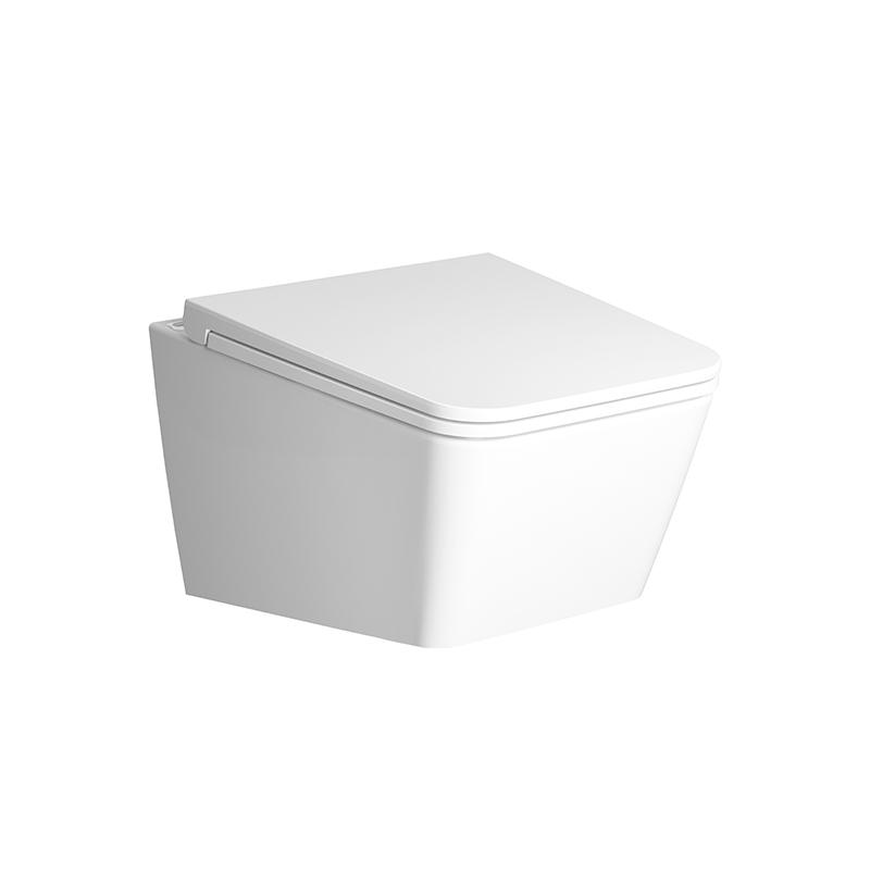 Equal Wand-WC VitrA Flush 2.0 ohne Spülrand Tiefspüler, Weiß Hochglanz