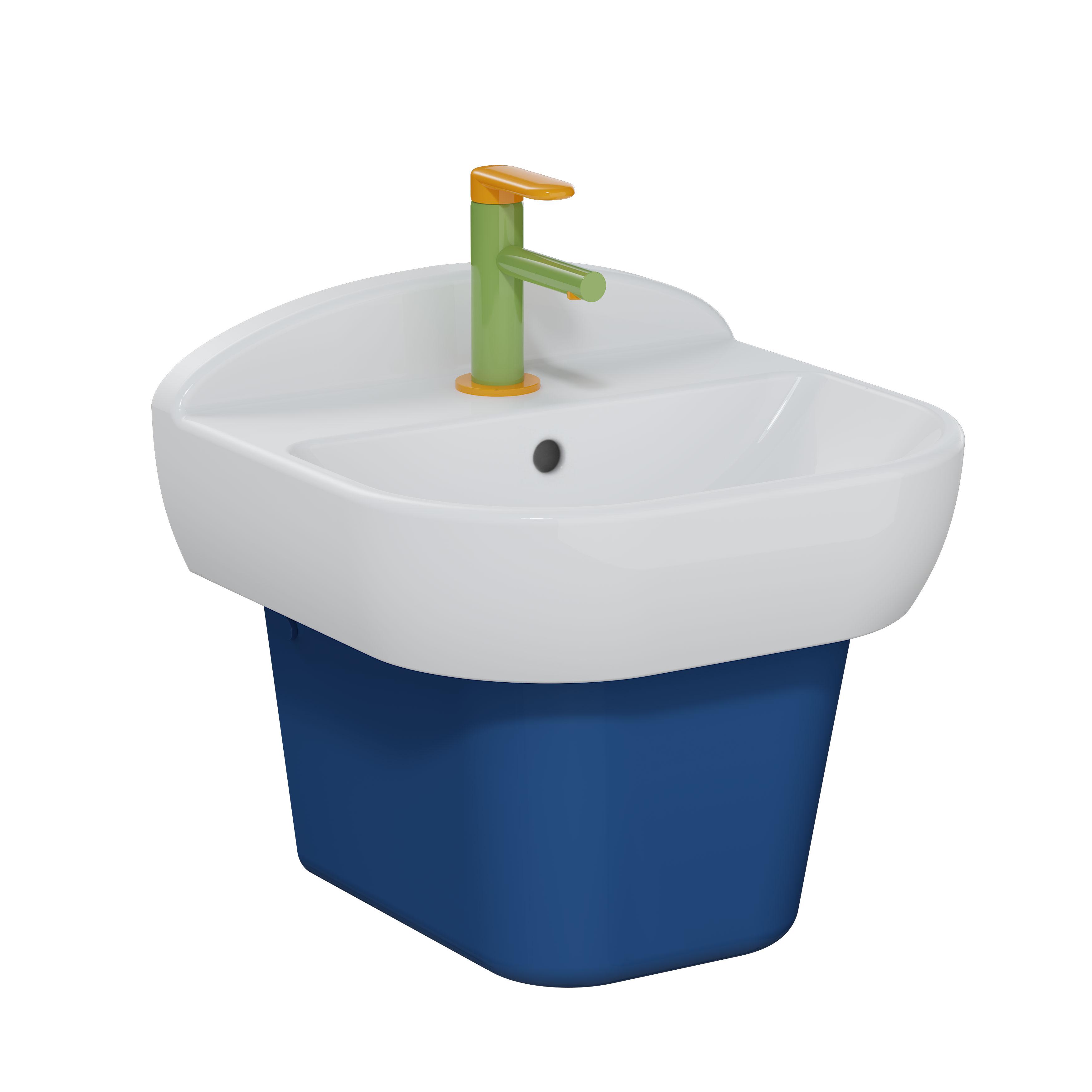 Sento Kids lavabo, 45 cm, avec trop-plein, blanc