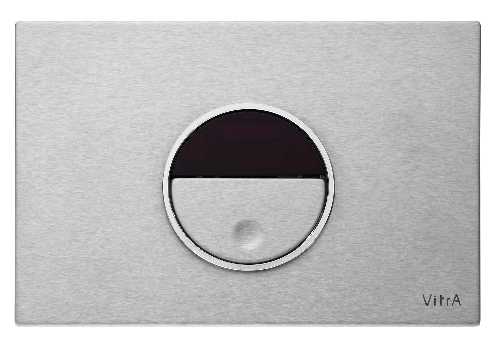 Pro panneau de commande 3/6 l, chromé brossé, 24,1  x  16,1 cm