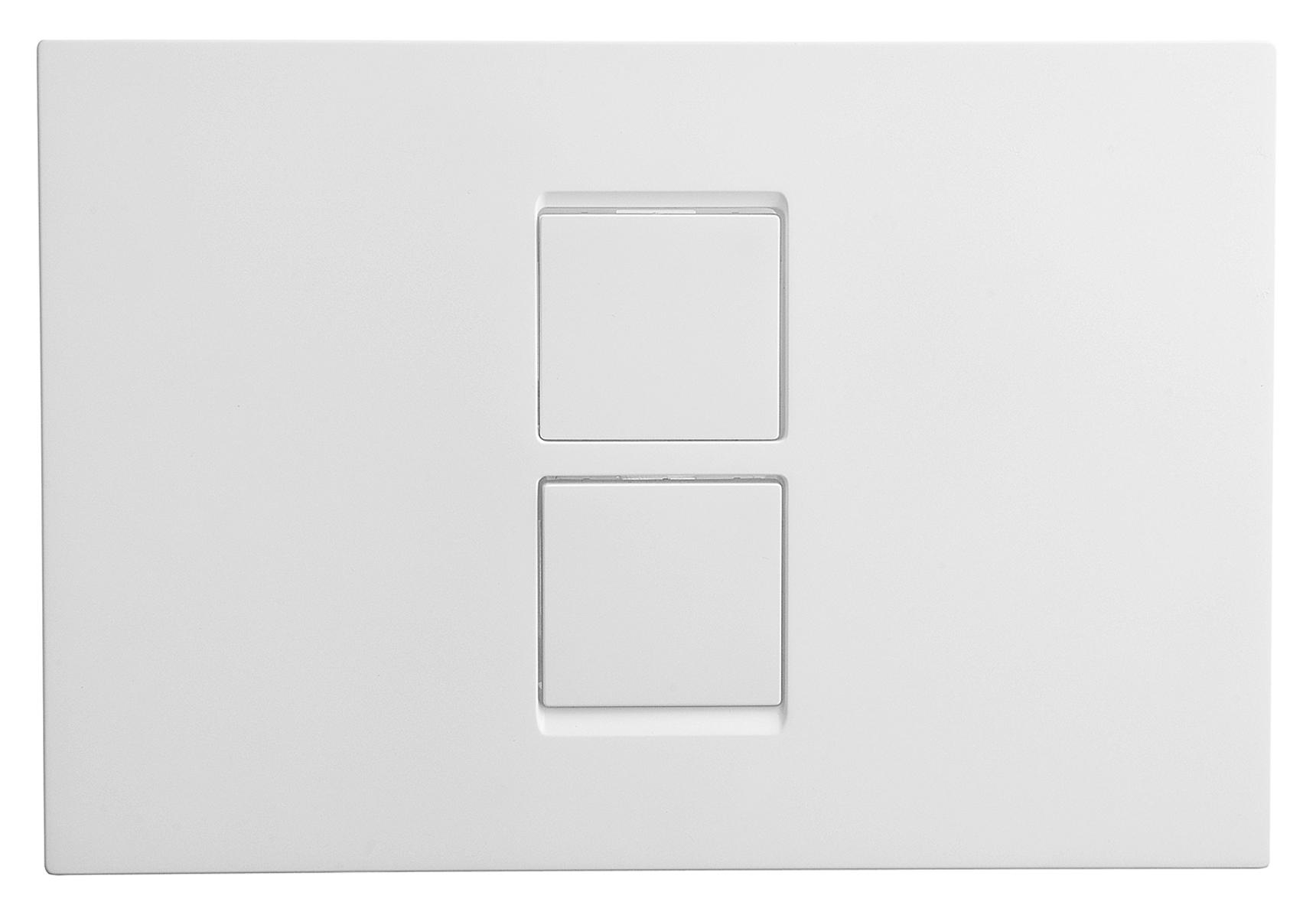 Twin² panneau de commande 3/6 l et 2,5/4 l, modèle Pneumatique, chromé mat