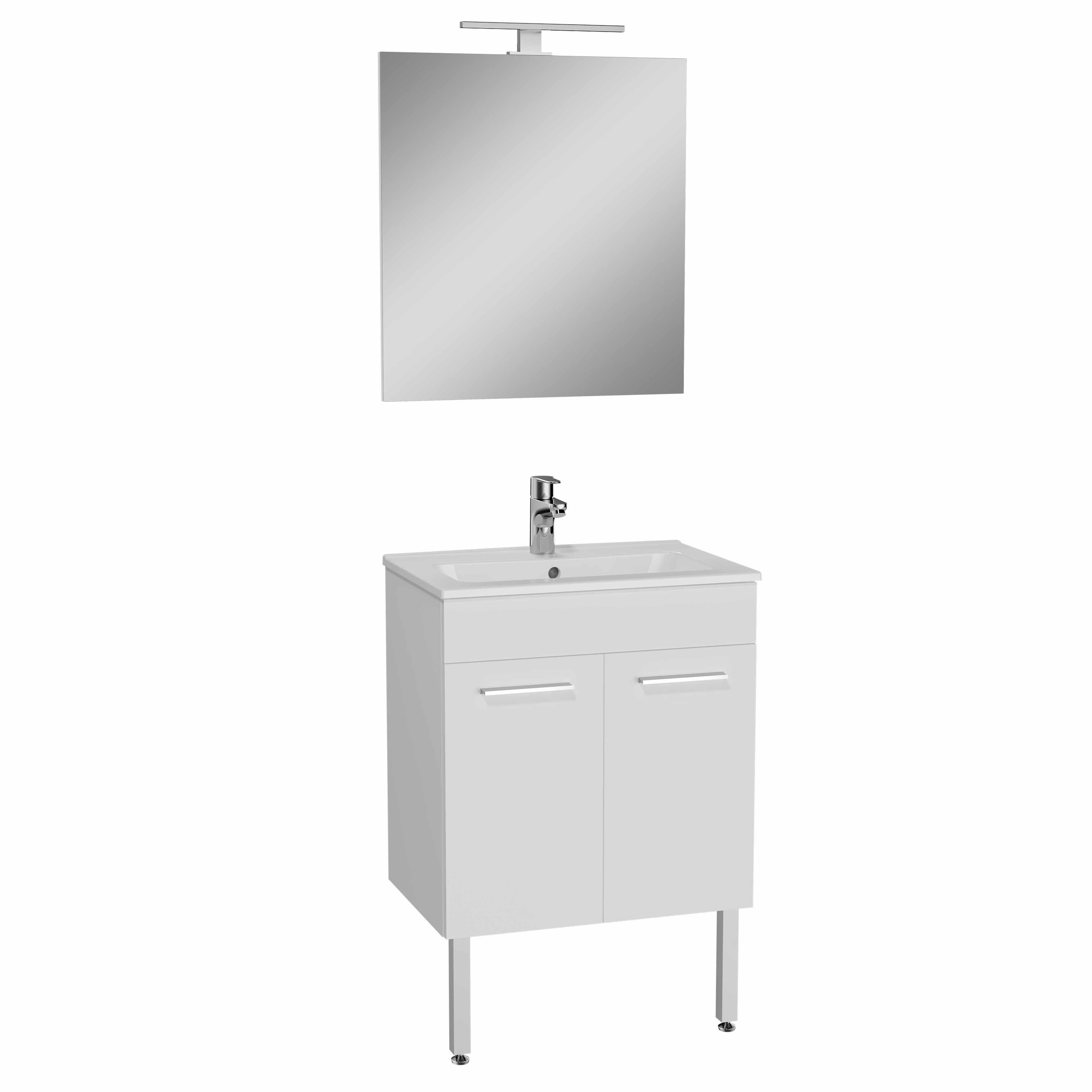 Mia set de meuble, avec 2 portes, 60 cm, blanc