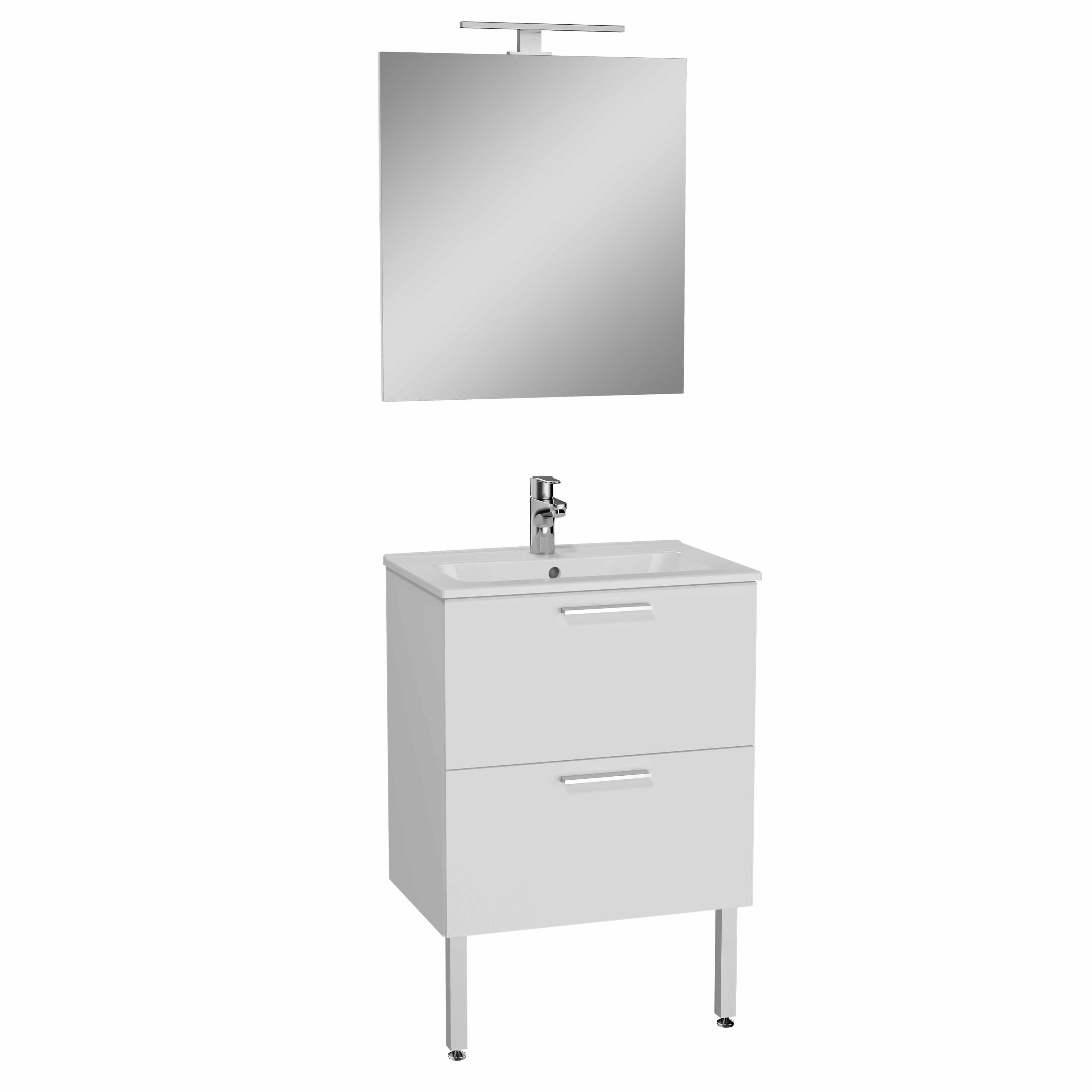 Mia set de meuble, avec 2 tiroirs, 60 cm, blanc