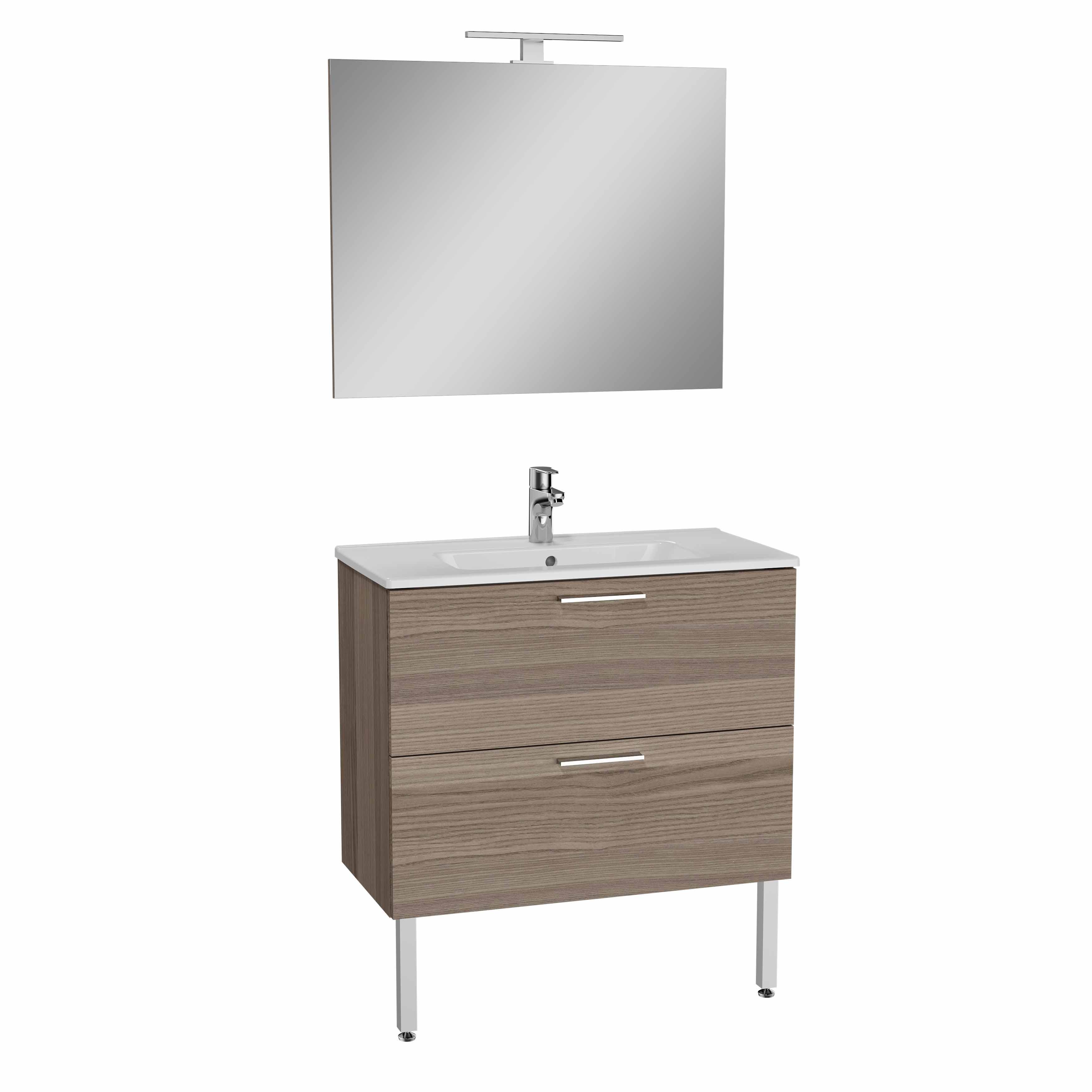 Mia set de meuble, avec 2 tiroirs, 80 cm, cordoba