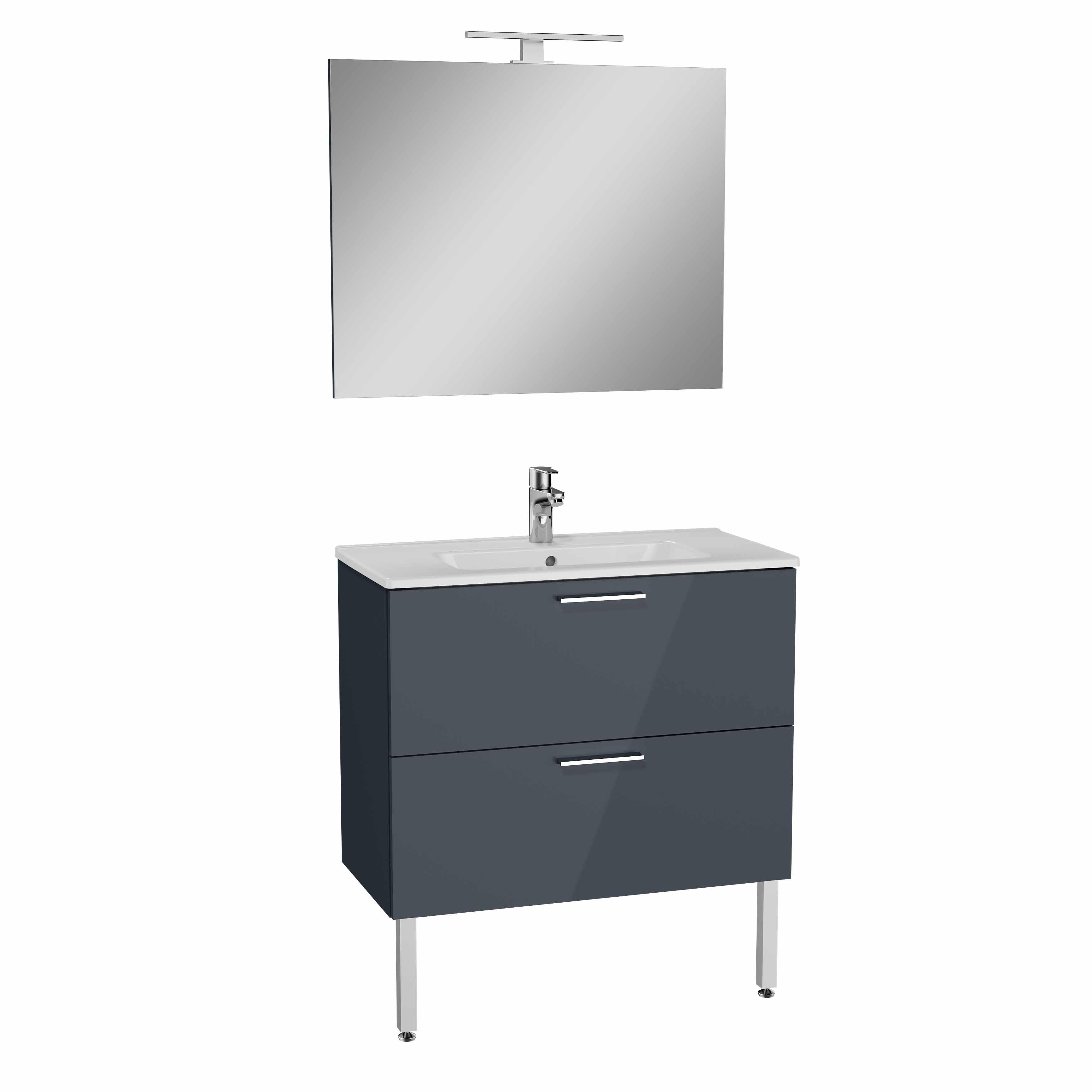 Mia set de meuble, avec 2 tiroirs, 80 cm, anthraciteacite