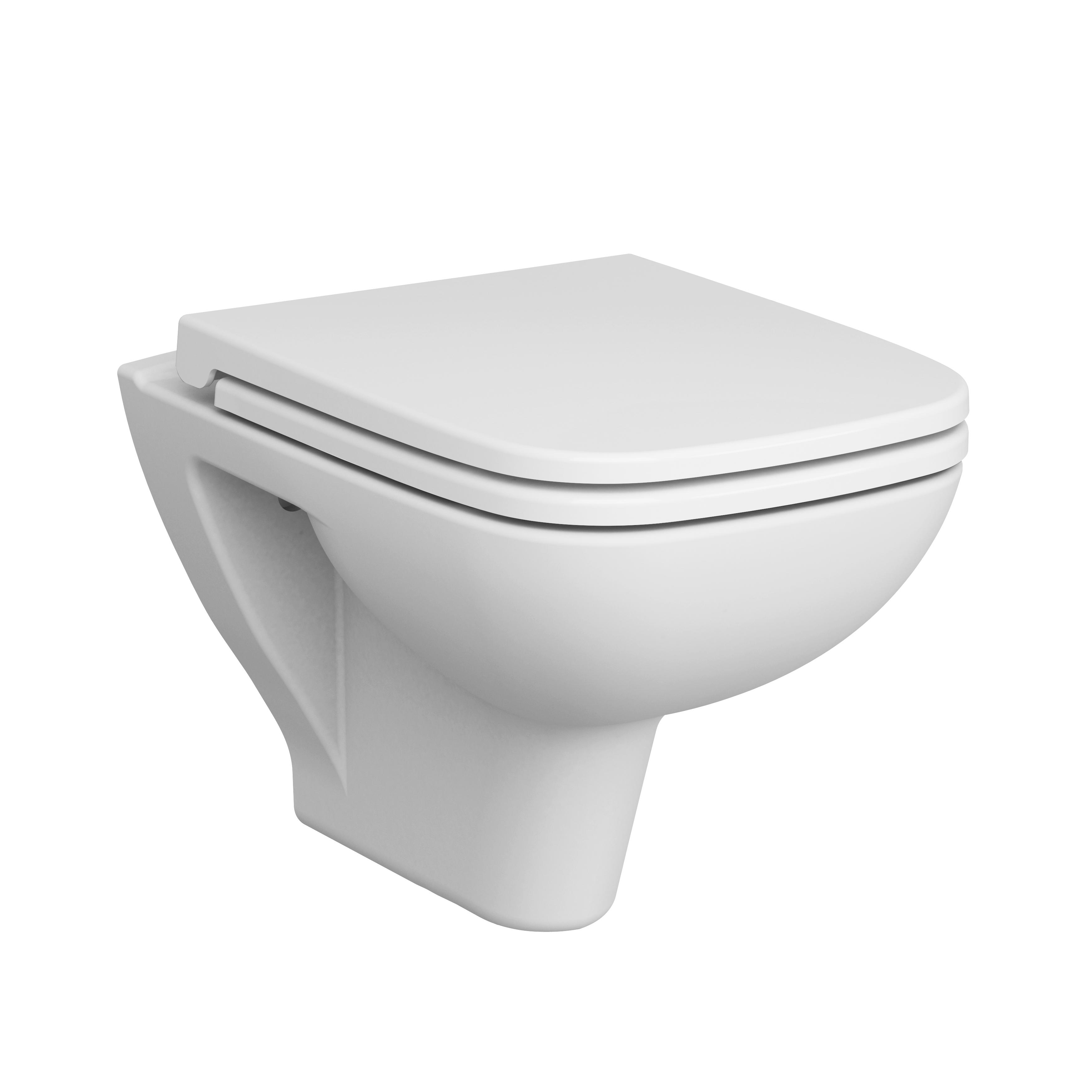 S20 Pack WC suspendu, sans bride, 52 cm, blanc