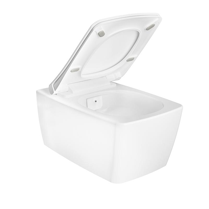 Aquacare Wand-WC-Set Metropole, mit Bidetfunktion, Weiß Hochglanz