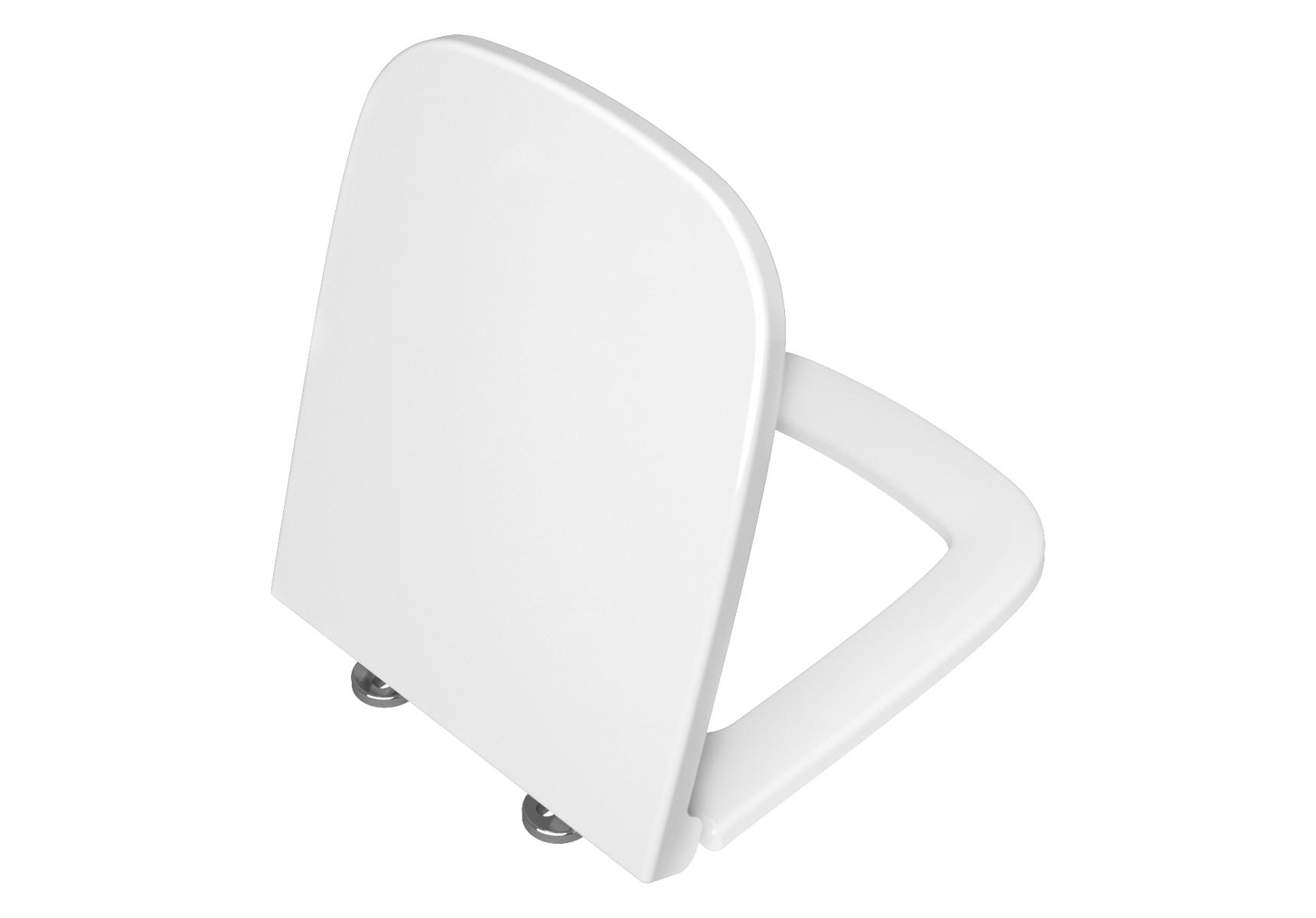 S20 WC-Sitz zu eckigen WCs mit Spülrand mit Absenkautomatik, Weiß Hochglanz