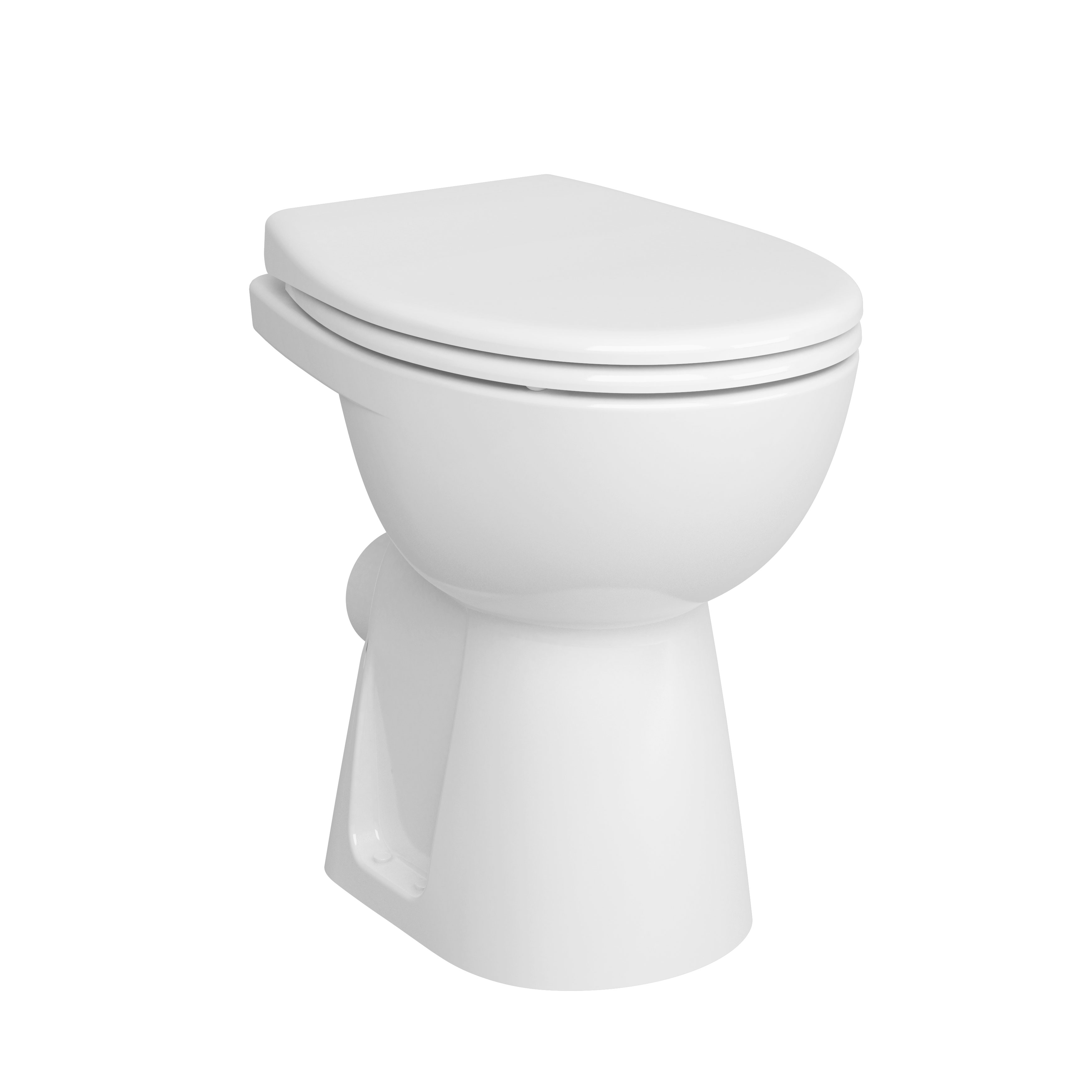 Conforma WC à poser PMR sans bride, sortie horizontale, avec trou d'abattant