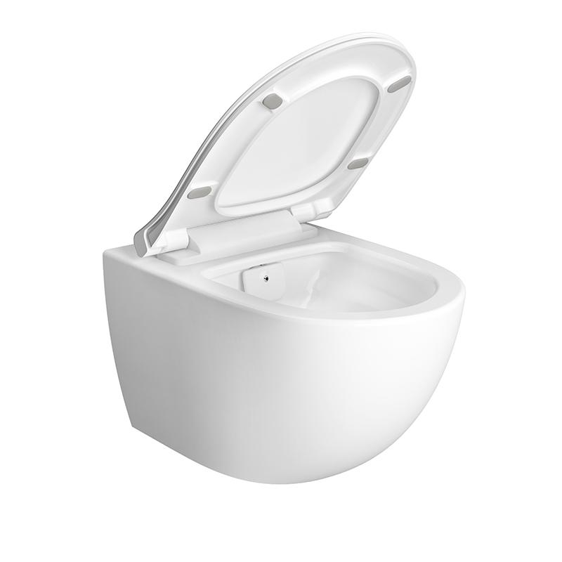 Aquacare Wand-WC-Set Sento mit Bidetfunktion, Weiß Hochglanz