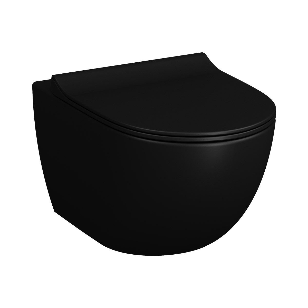 Sento Wand-WC VitrA Flush 2.0 mit Bidetfunktion, Schwarz Matt