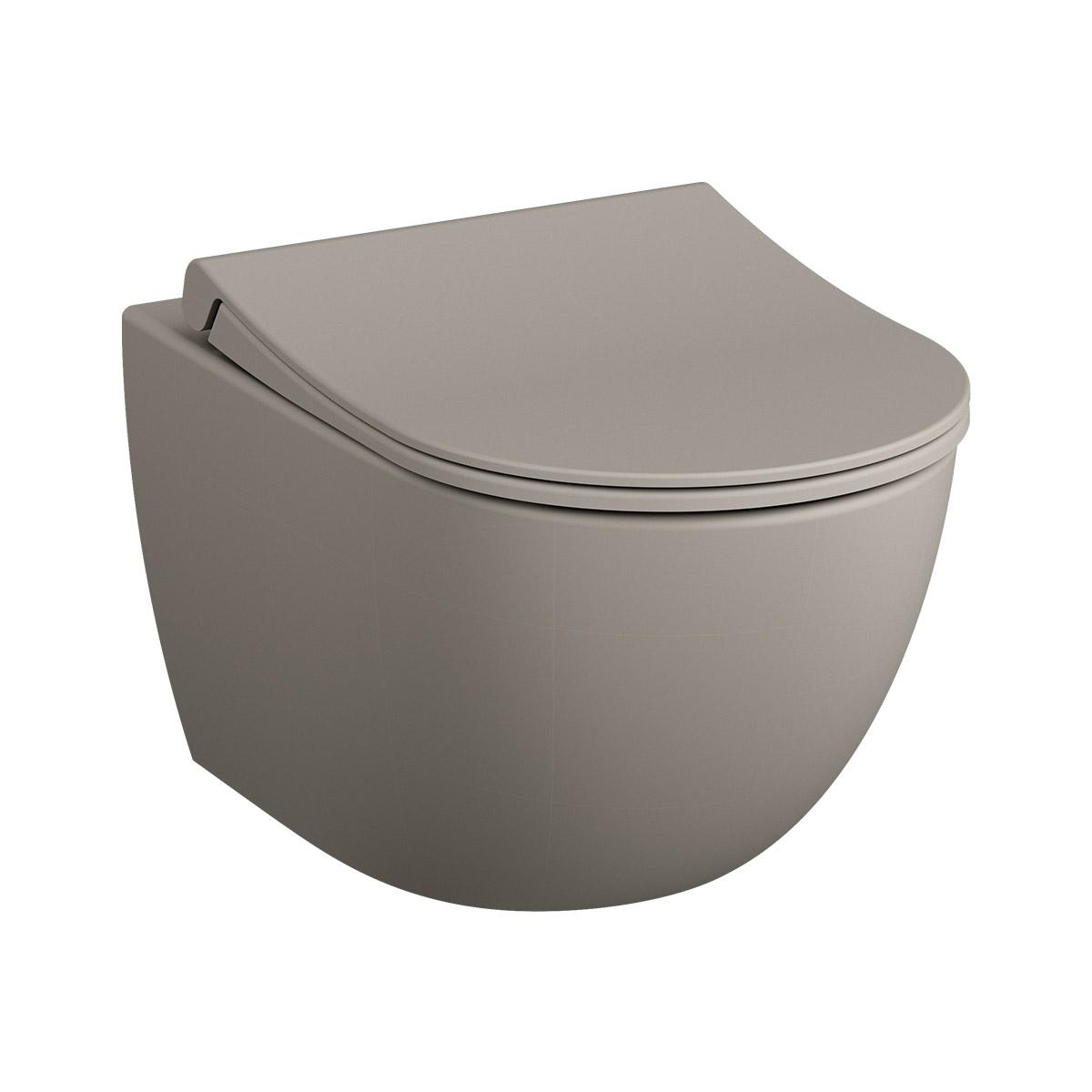 Sento Wand-WC VitrA Flush 2.0 mit Bidetfunktion, Taupe Matt