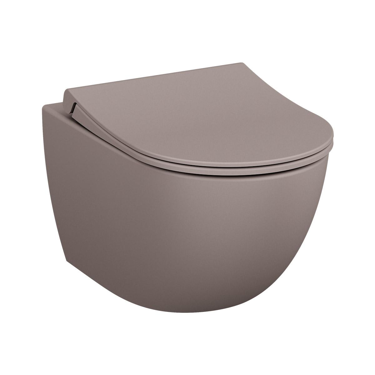 Sento Wand-WC VitrA Flush 2.0 mit Bidetfunktion, Nerz Matt