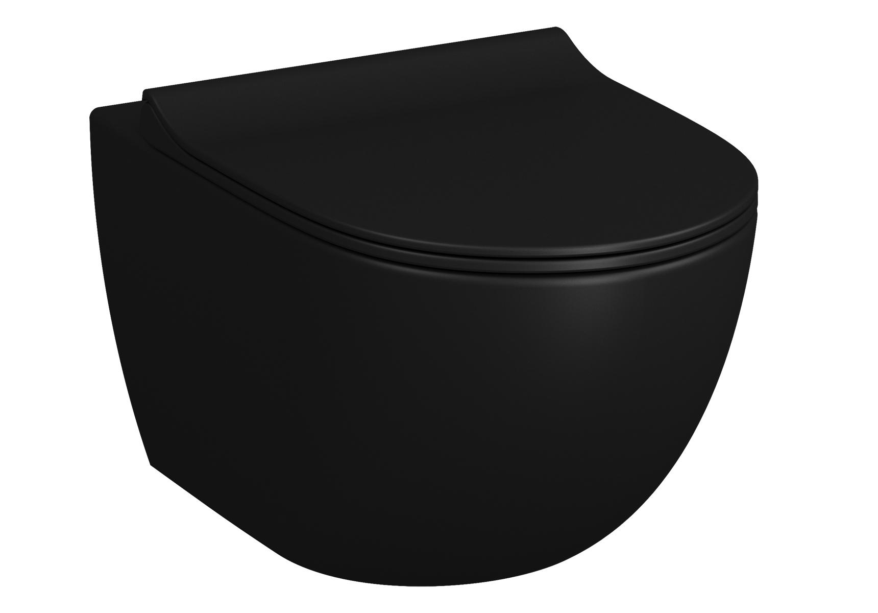 Sento Pack WC suspendu, avec fixation cachée par le dessus, 3/6 l, abattant SLIM Duroplast, noir