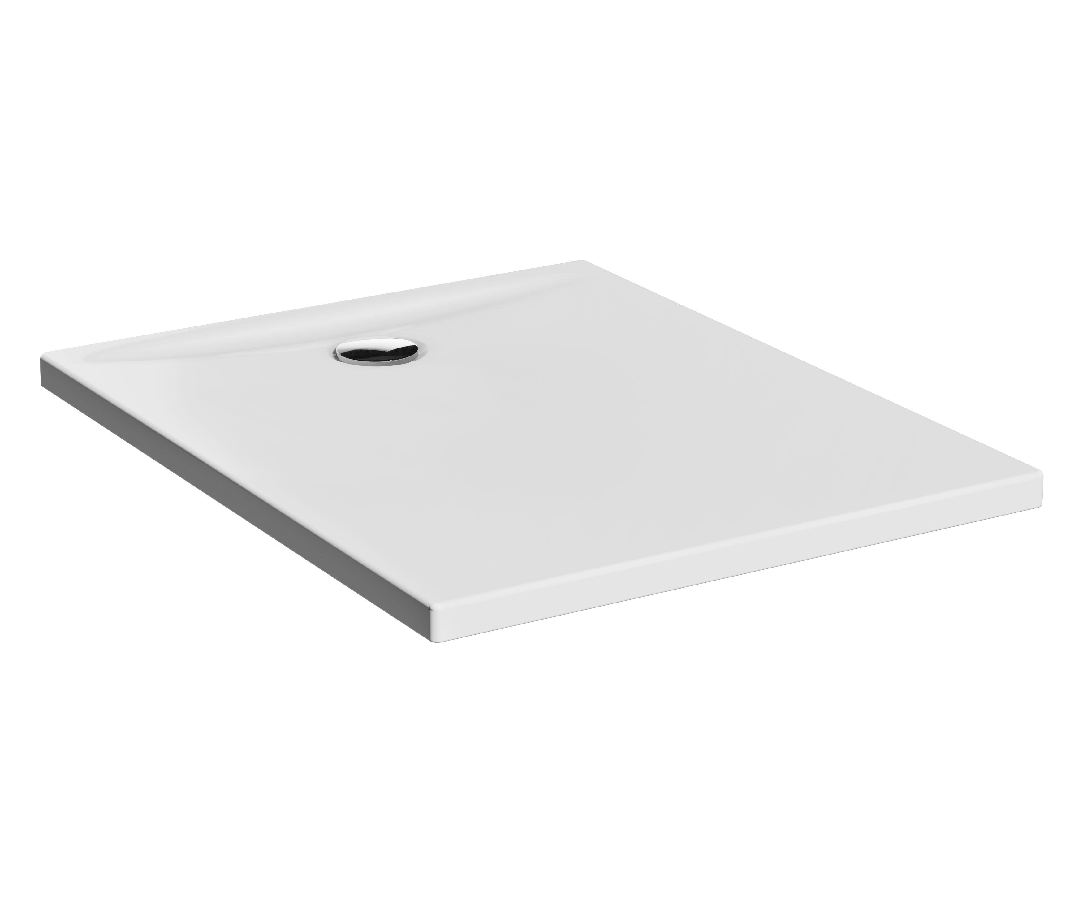 Lagoon receveur ultra plat en céramique, 100  x  80 cm, blanc haute brillance
