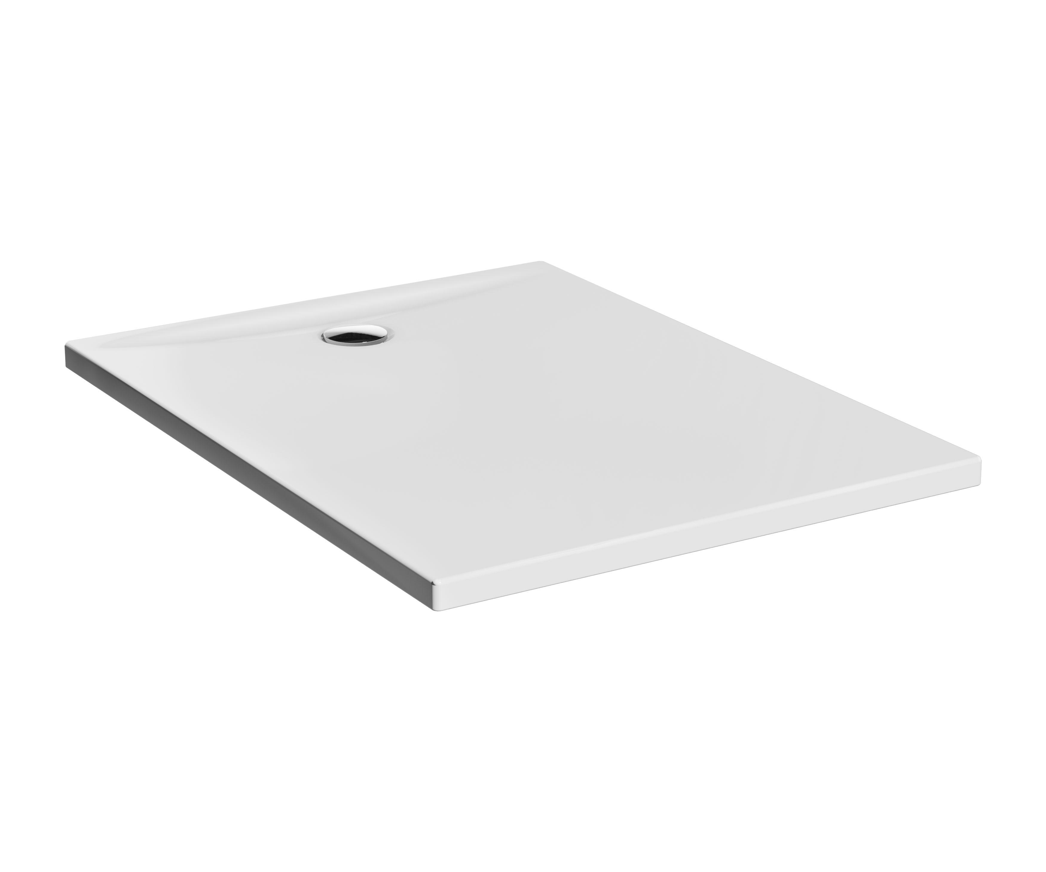 Lagoon receveur ultra plat en céramique, 120  x  90 cm, blanc haute brillance