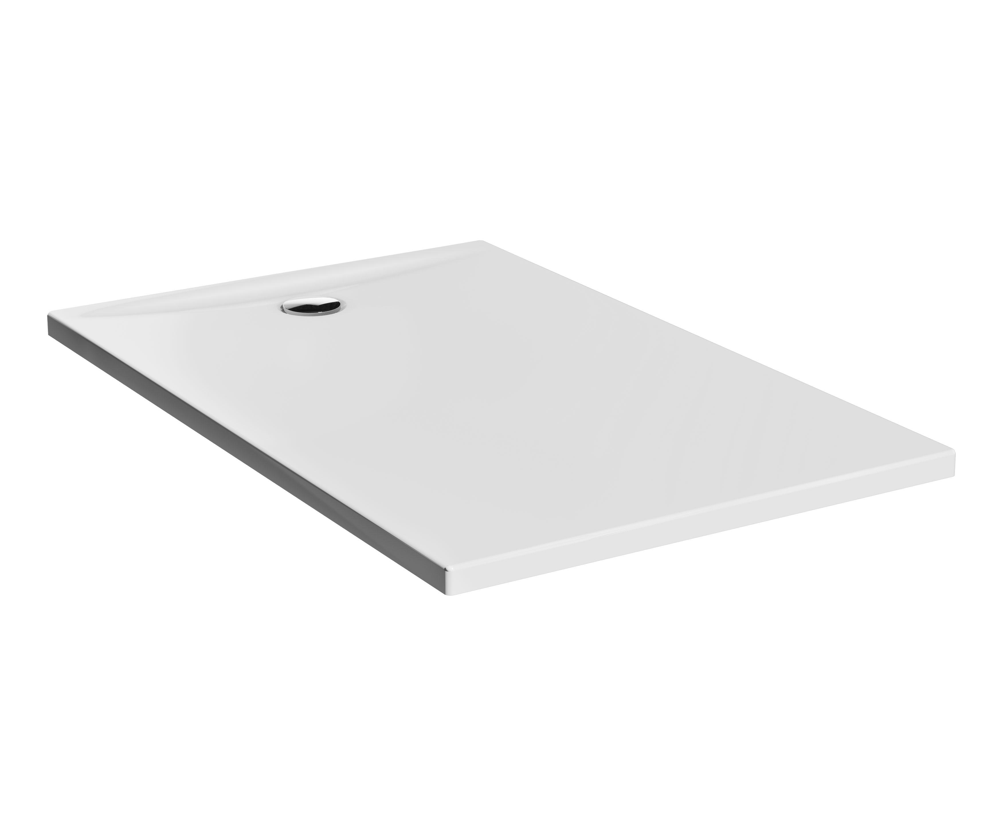 Lagoon receveur ultra plat en céramique, 140  x  90 cm, blanc haute brillance