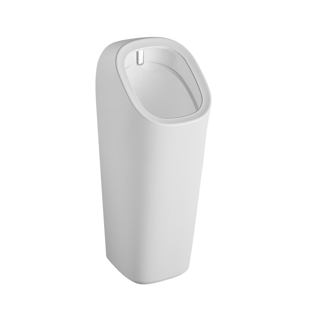 Plural Monoblock Urinal Wandmontage batteriebetrieben, Weiß Hochglanz