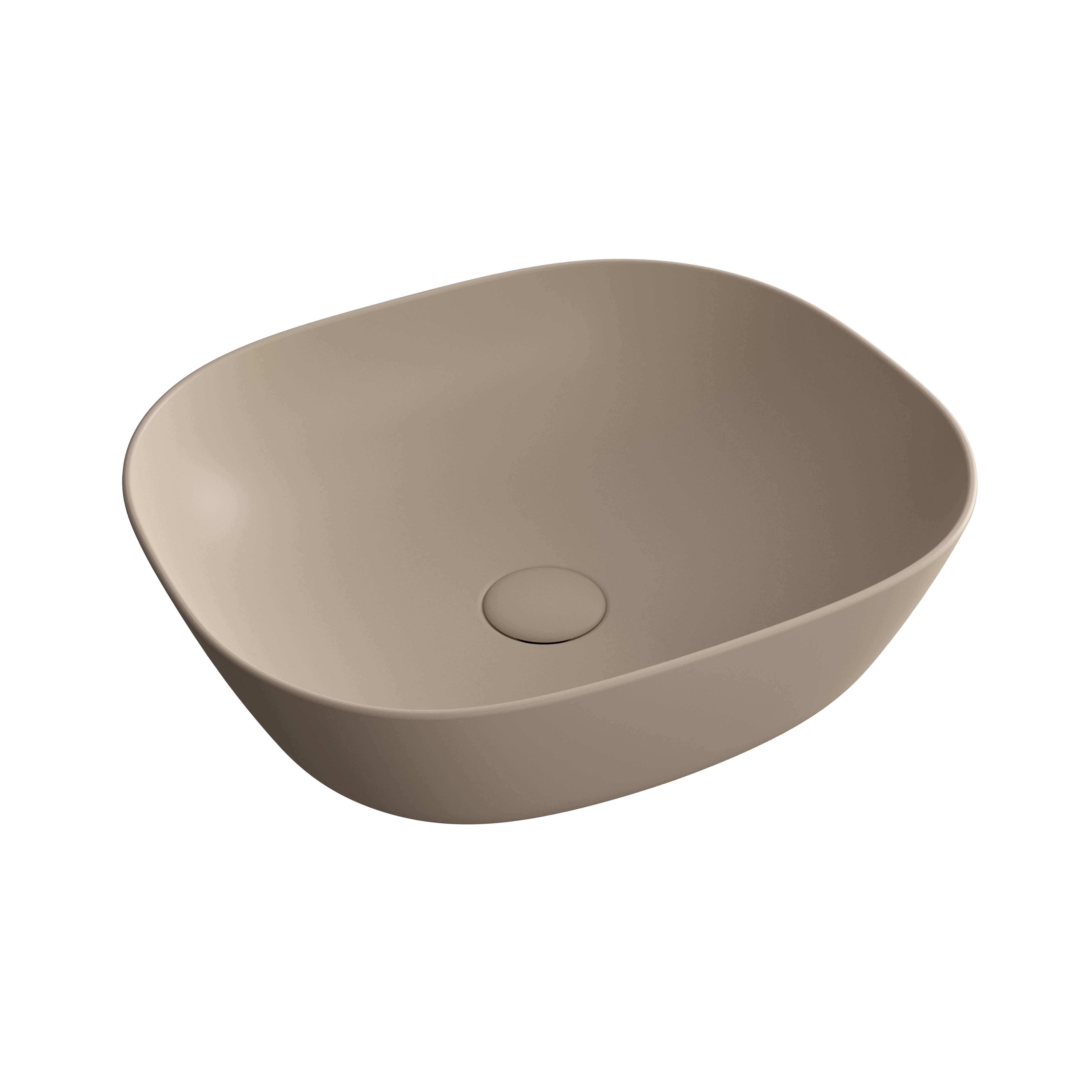Plural vasque bas, argile mat