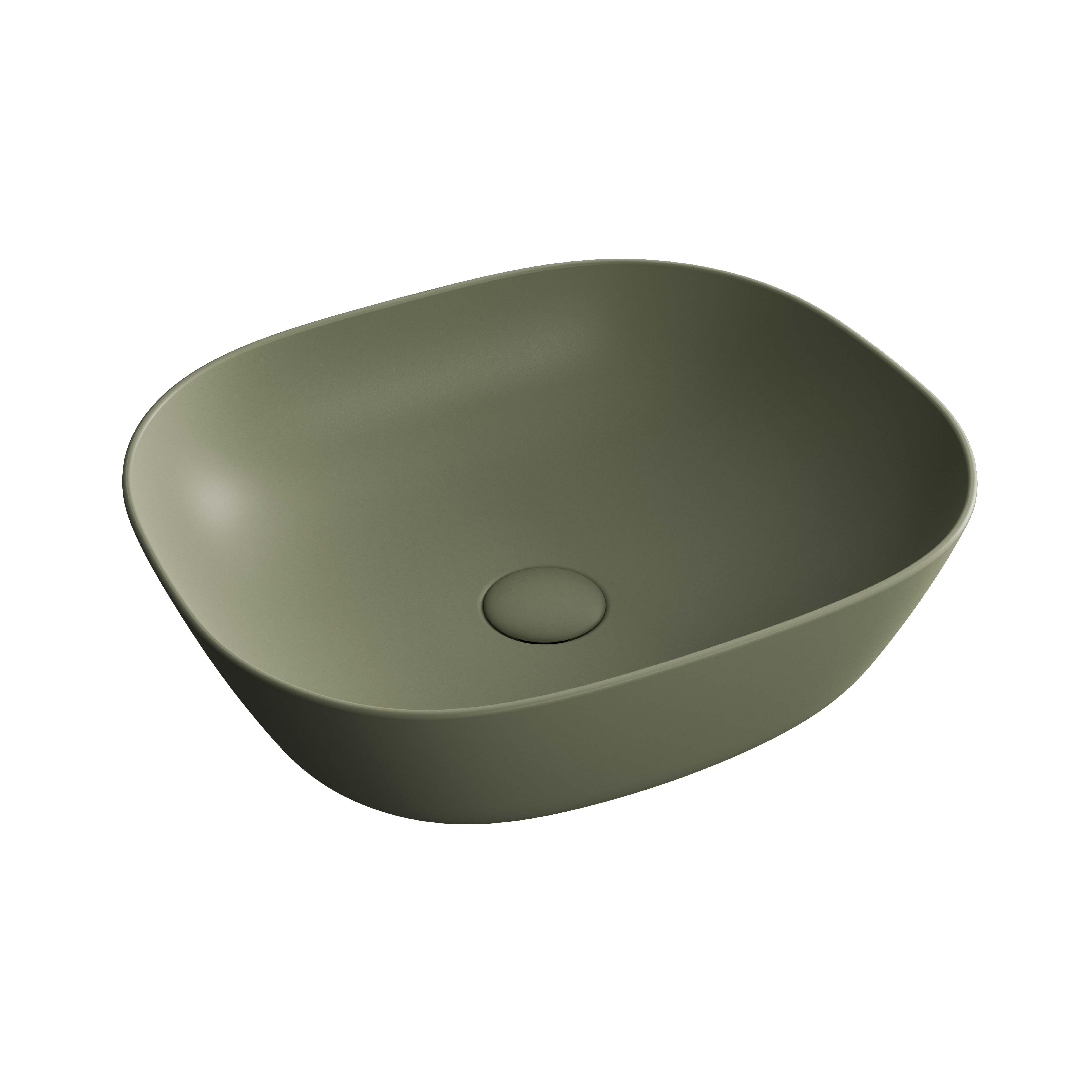 Plural vasque bas, vert mousse mat
