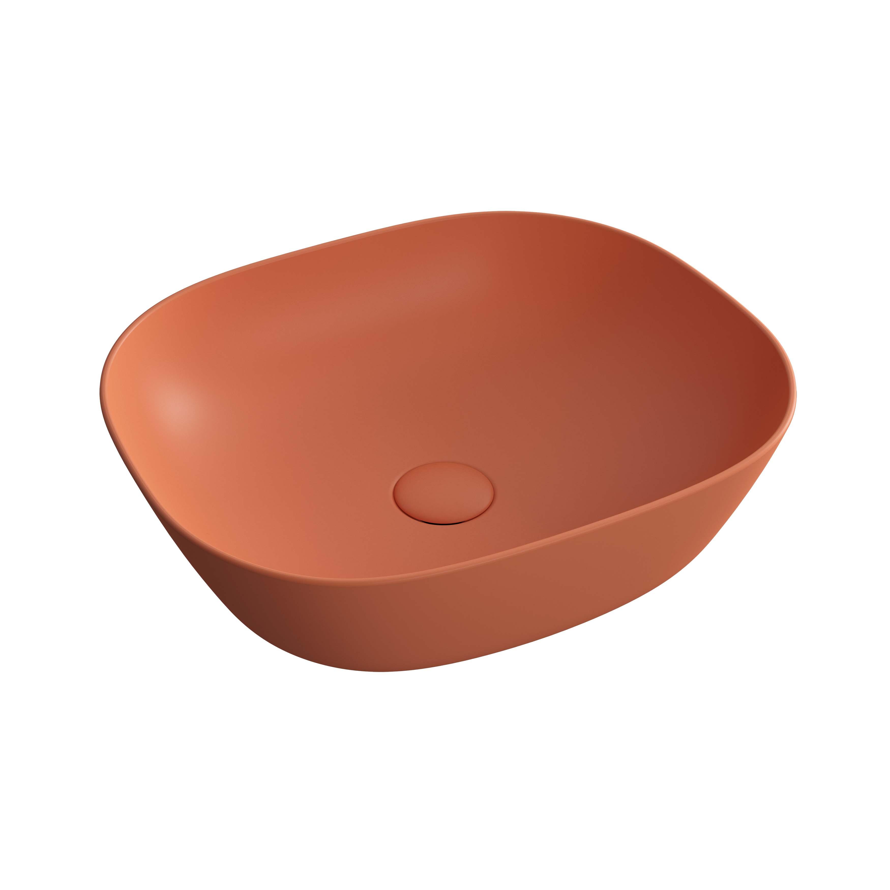 Plural vasque bas, terre rouge mat
