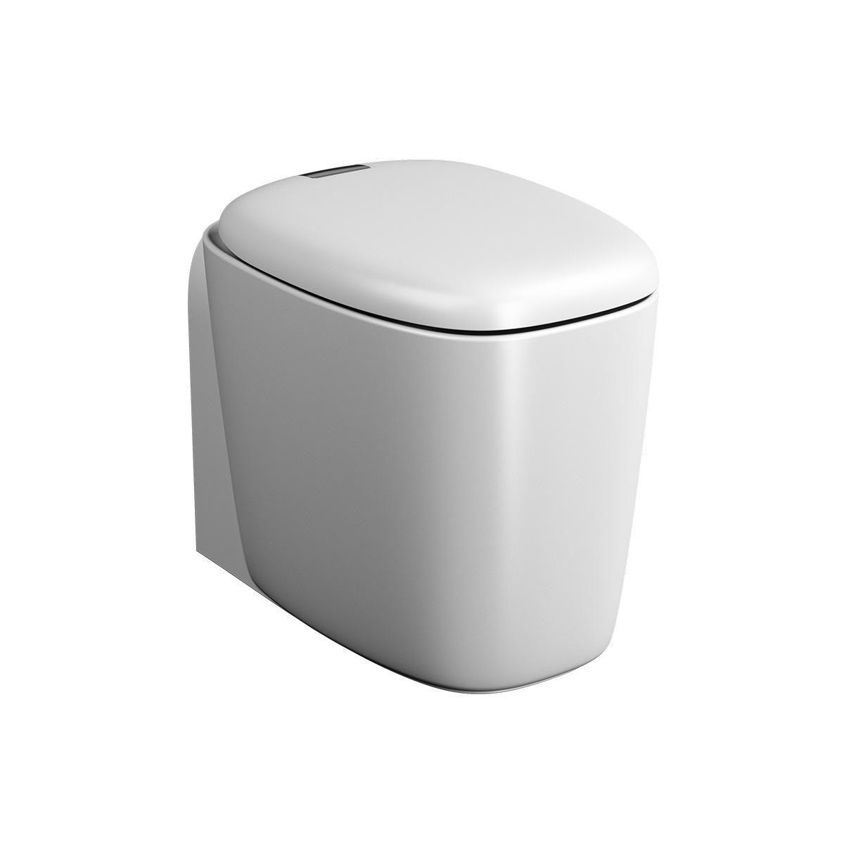 Plural WC BTW sans bride, fonction bidet, 55 cm, VC, Edelweiss